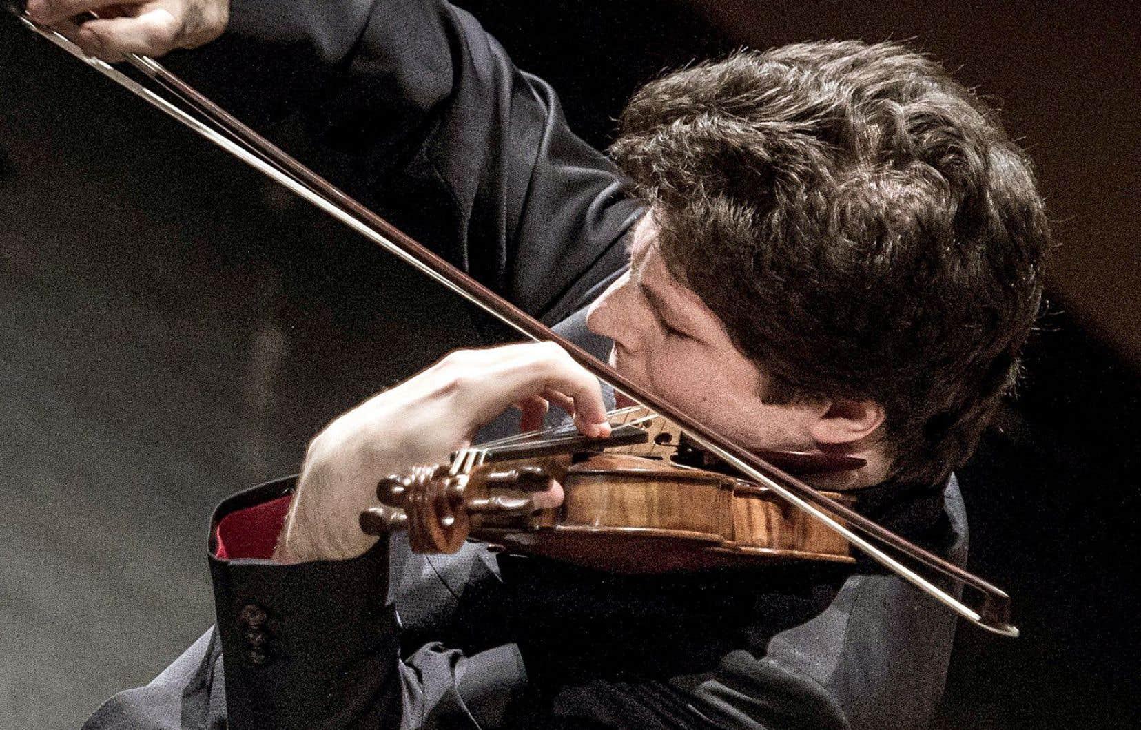 Le violoniste allemand Augustin Hadelich était de passage à Montréal.