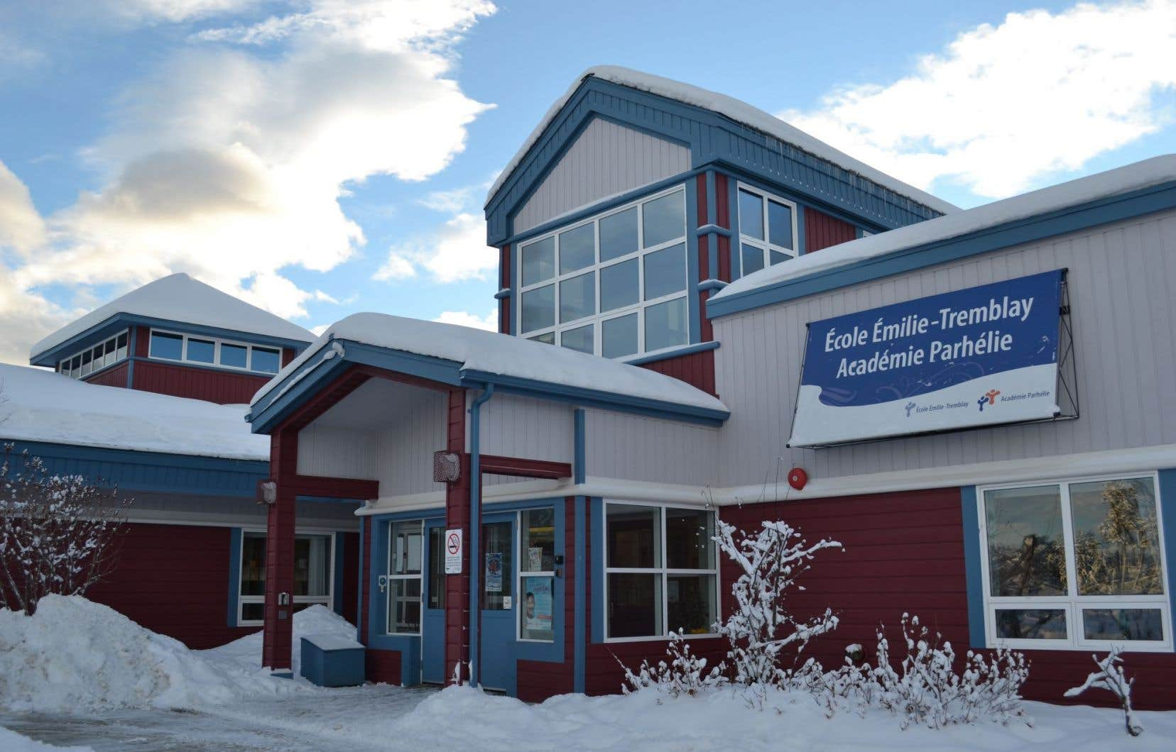 L'école Émilie-Tremblay, à Whitehorse, dont l'ouverture remonte à 1984.