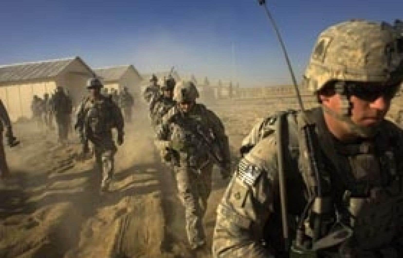 Le président Obama est reparti de Strasbourg sans avoir obtenu les renforts qu'il avait sollicités auprès des Européens. Ci-dessus, des troupes américaines en patrouille dans la province de Paktika, en février.
