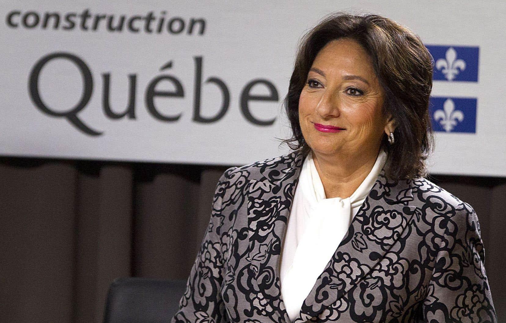 La juge France Charbonneau doit remettre son rapport d'enquête au gouvernement en novembre.