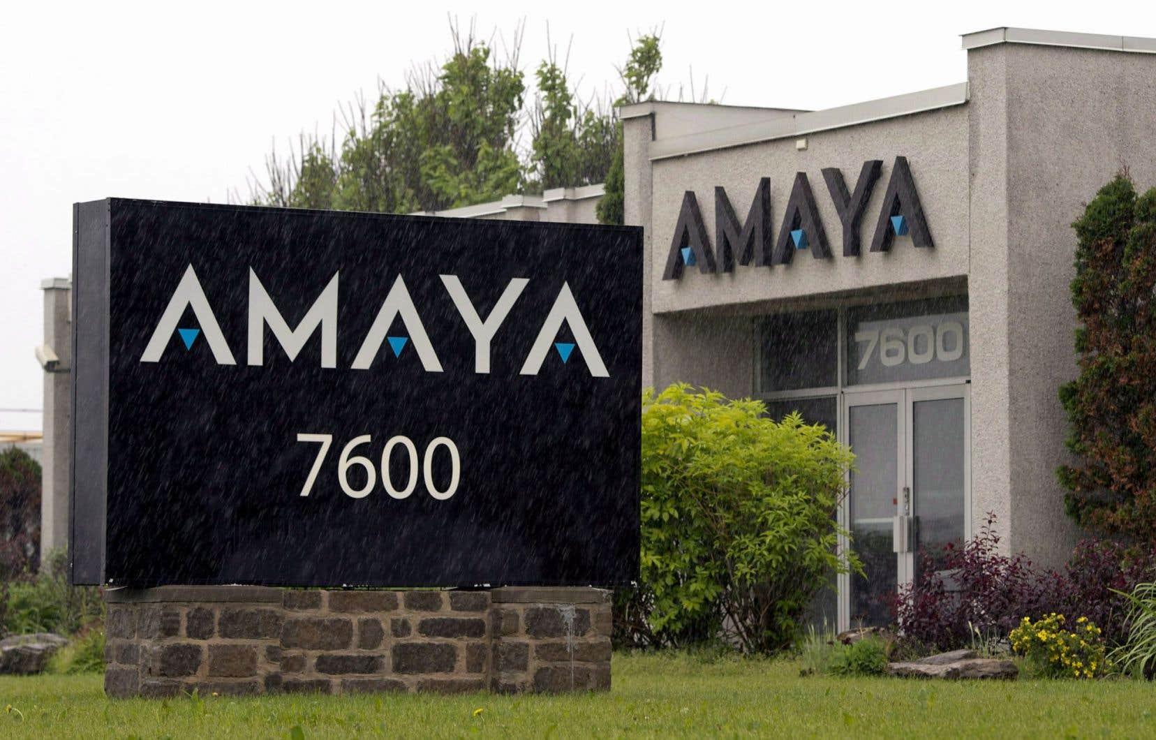Le siège social d'Amaya, à Montréal