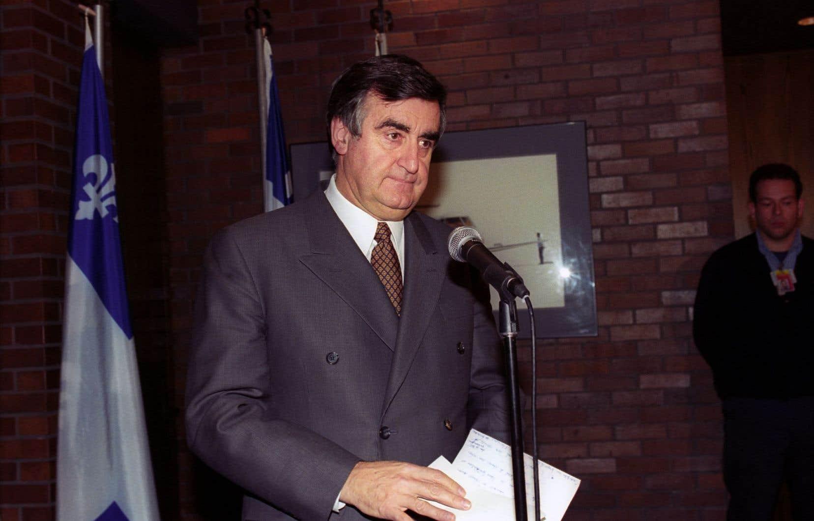 L'ancien premier ministre Lucien Bouchard