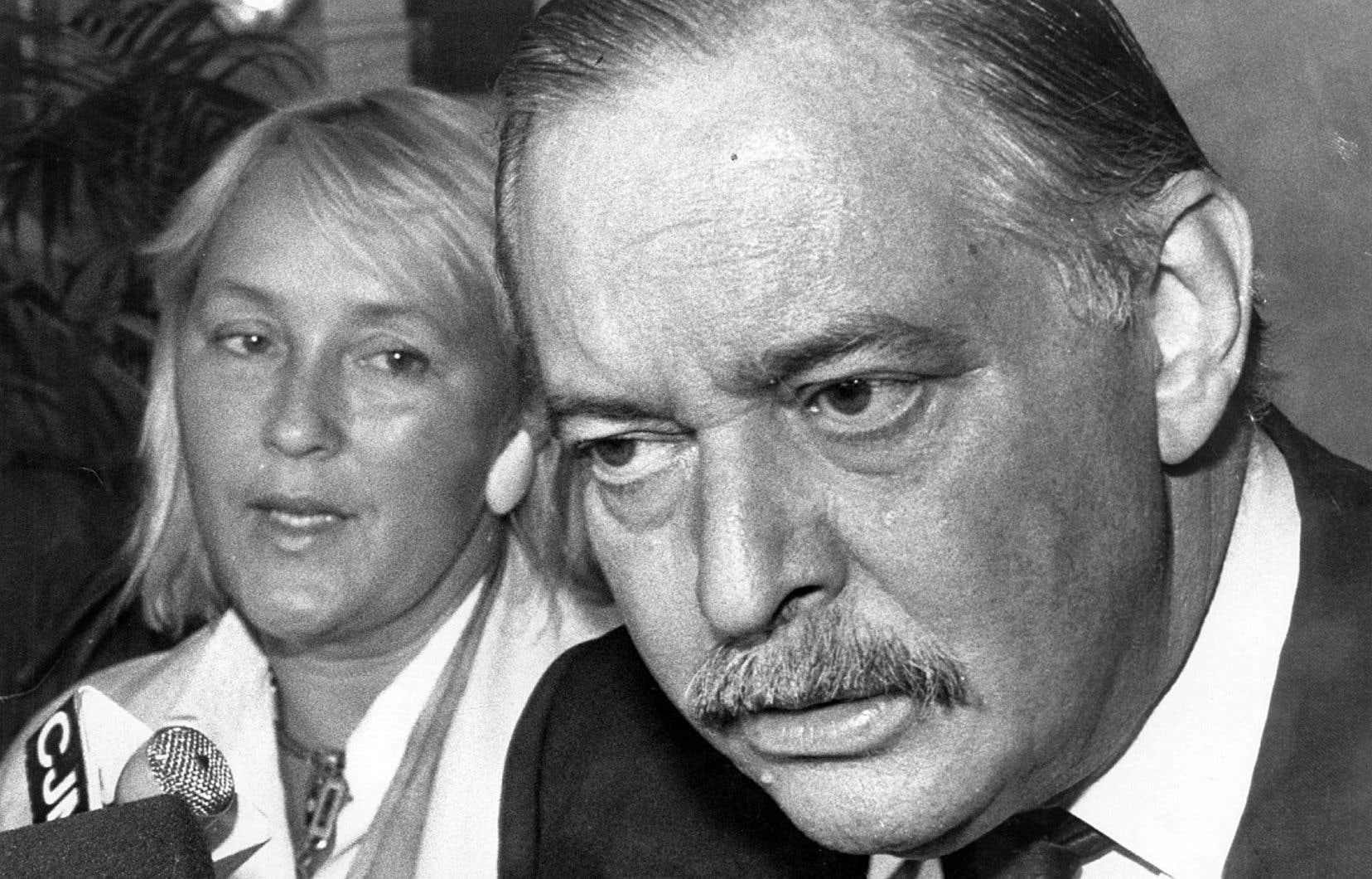 Pauline Marois en septembre 1989, au lendemain de son élection dans la circonscription de Taillon
