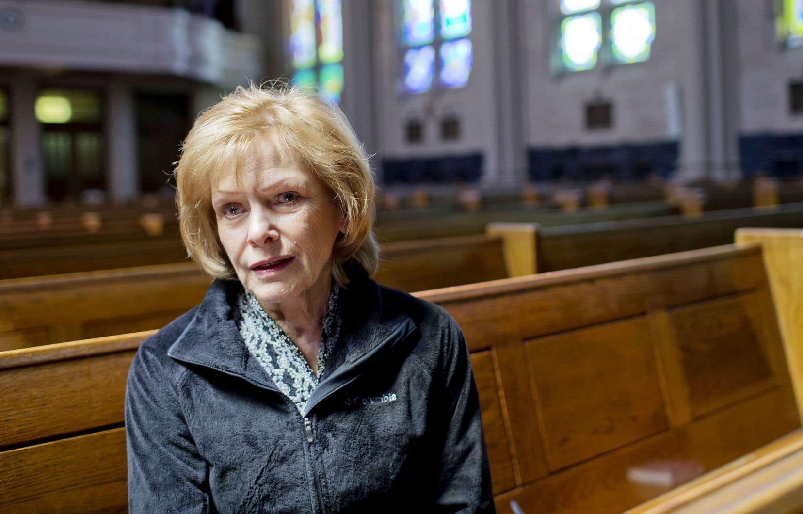 «Ce que je ressens? Un abîme. Un vide», confie Lisette Lapointe, à l'église Saint-Germain d'Outremont.