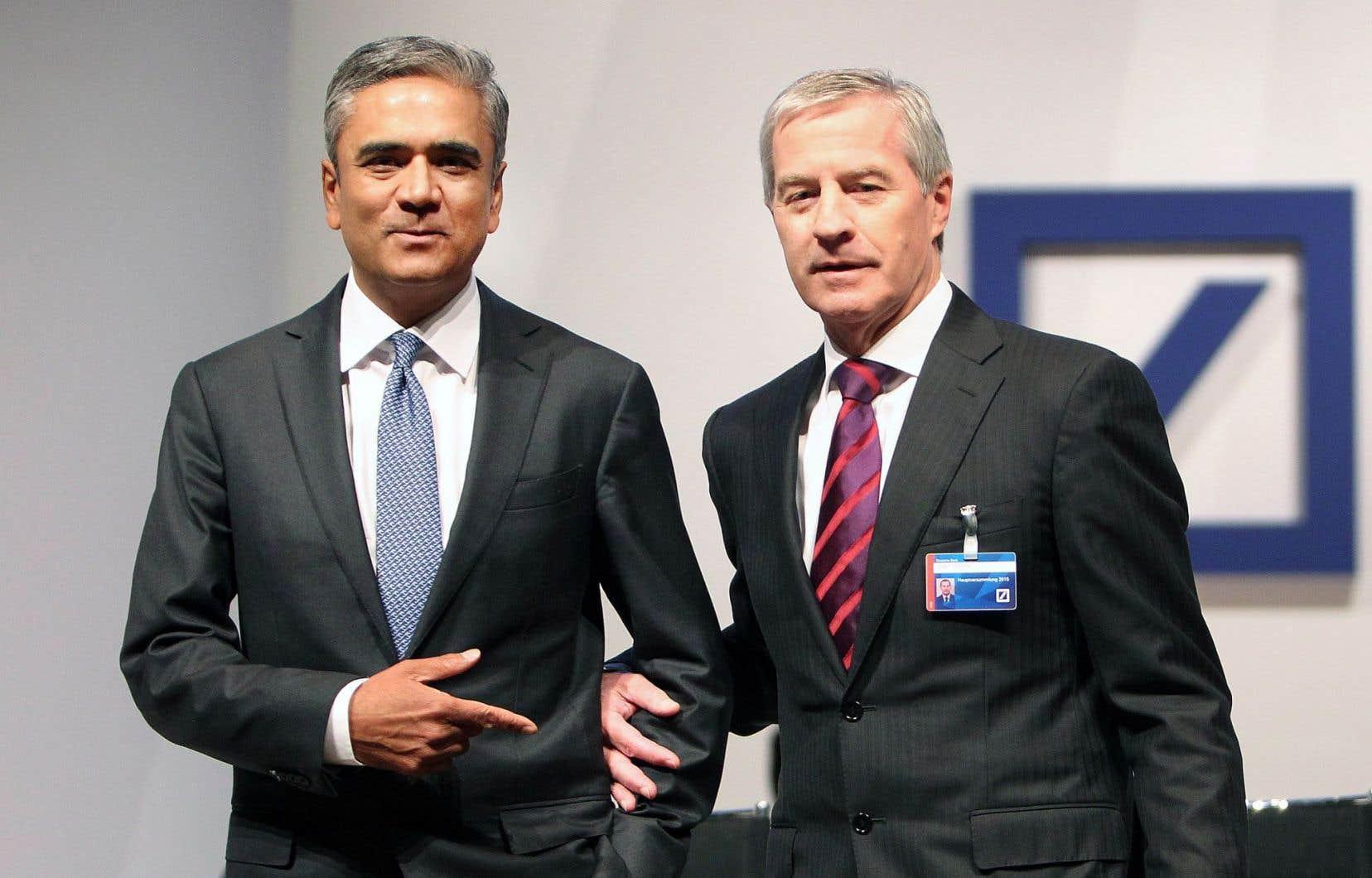 Anshu Jain et Jürgen Fitschen sont les deux derniers banquiers à avoir démissionné de leur poste, la Deutsche Bank qu'ils dirigeaient étant impliquée dans environ 6000 litiges.