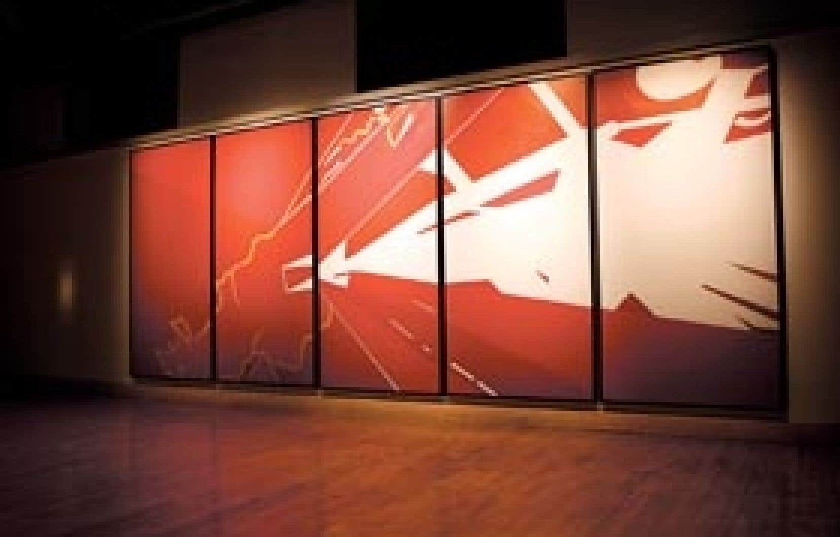 Murale acrylique, Flourish, Jason Baerg, 2009.