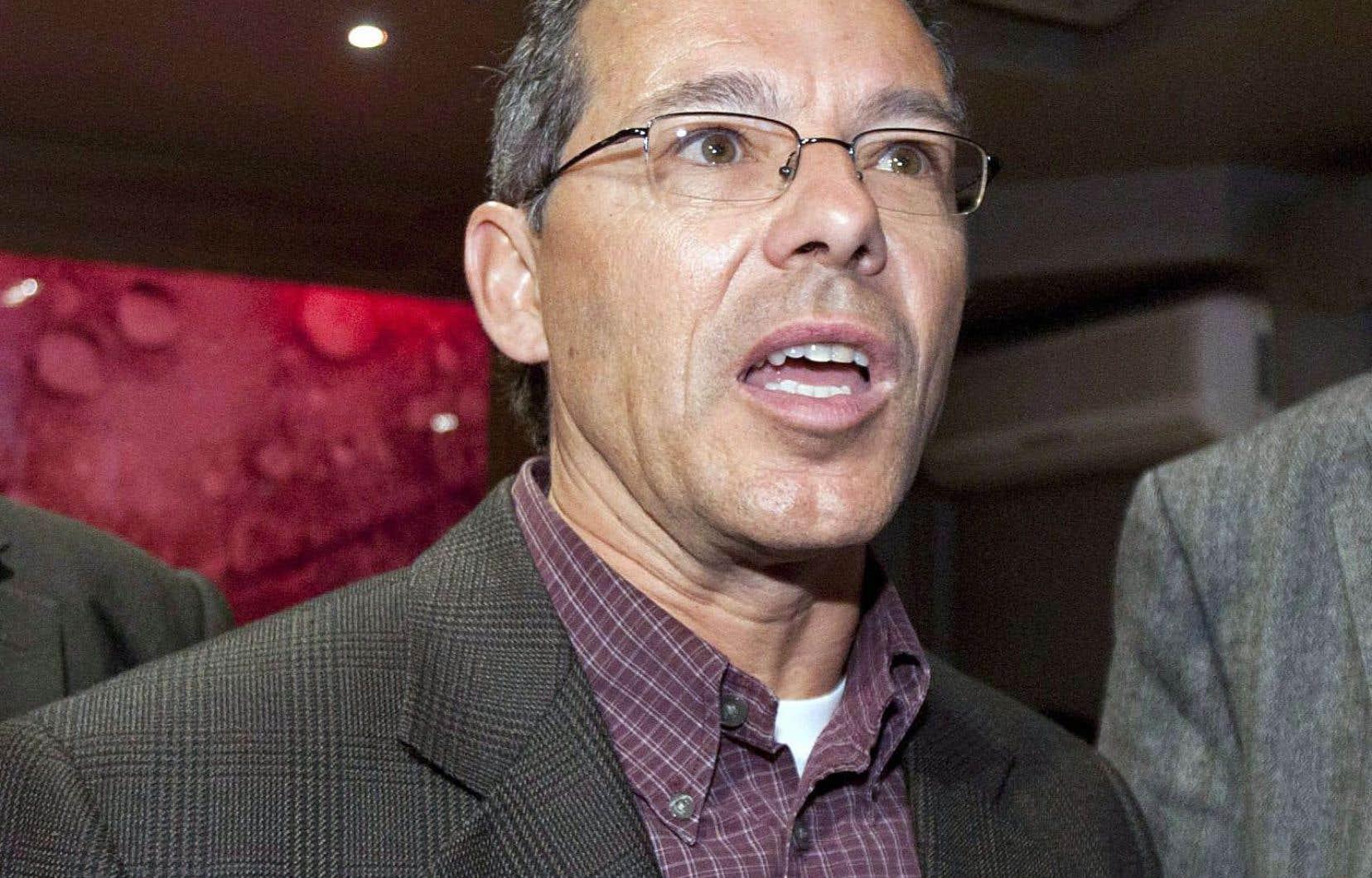 Adrien Pouliot en 2012, alors qu'il s'opposait à la fusion de l'ADQ avec la CAQ.