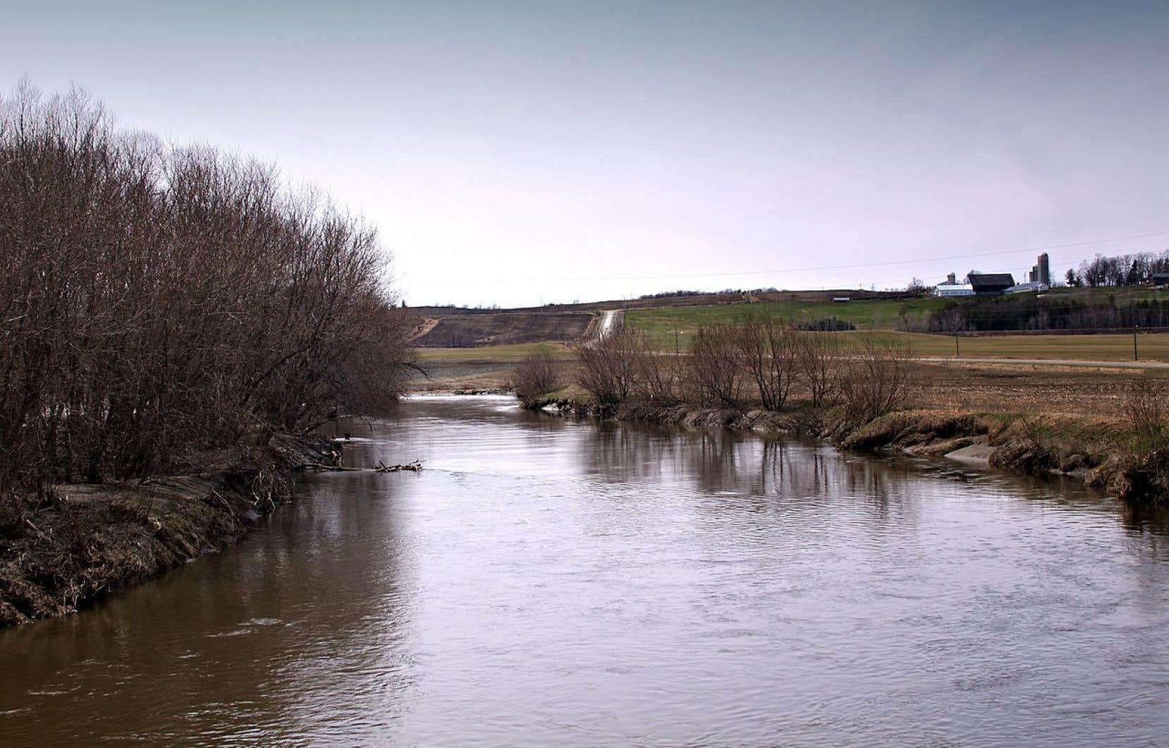 La rivière Coaticook en aval du pont Drouin