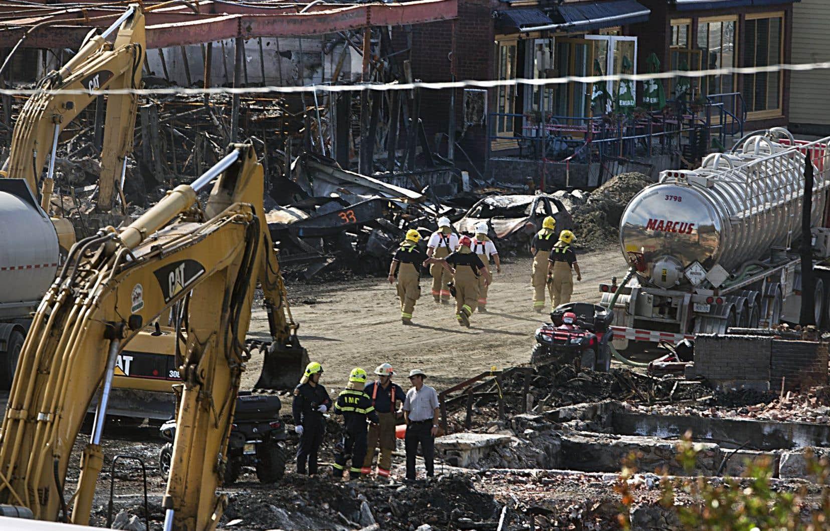 Les wagons qui ont explosé au centre-ville de Lac-Mégantic ont causé des dommages colossaux.