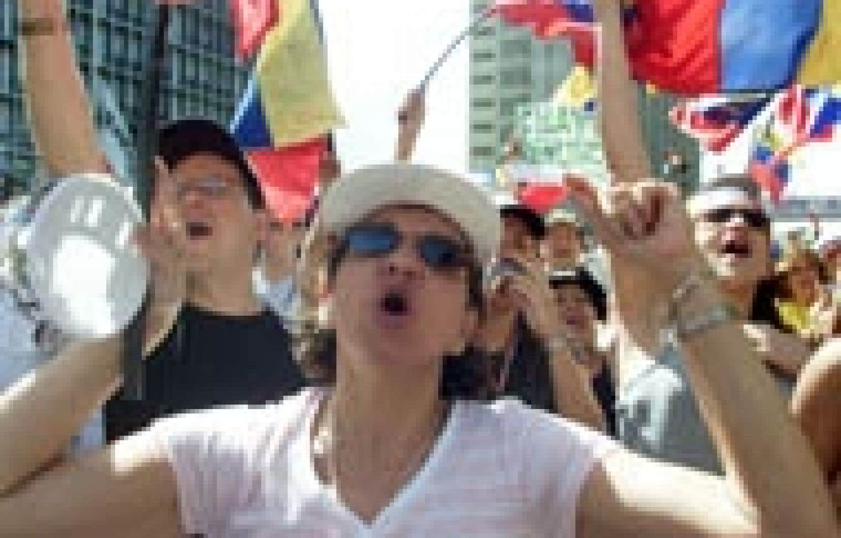 L'opposition a une fois de plus réclamé la démission du président Hugo Chavez.