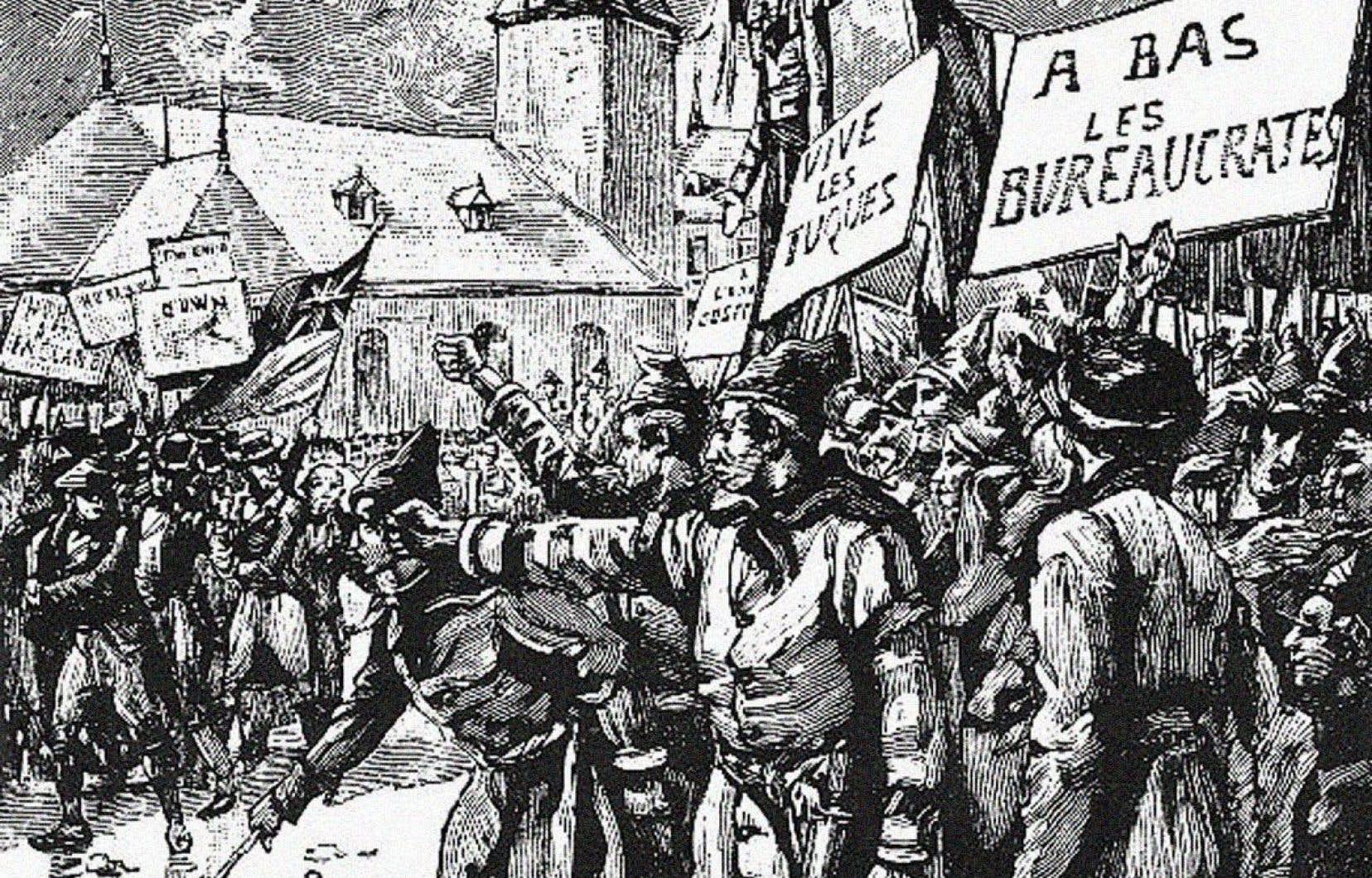 Affrontement du Doric Club contre les Fils de la Liberté en 1837