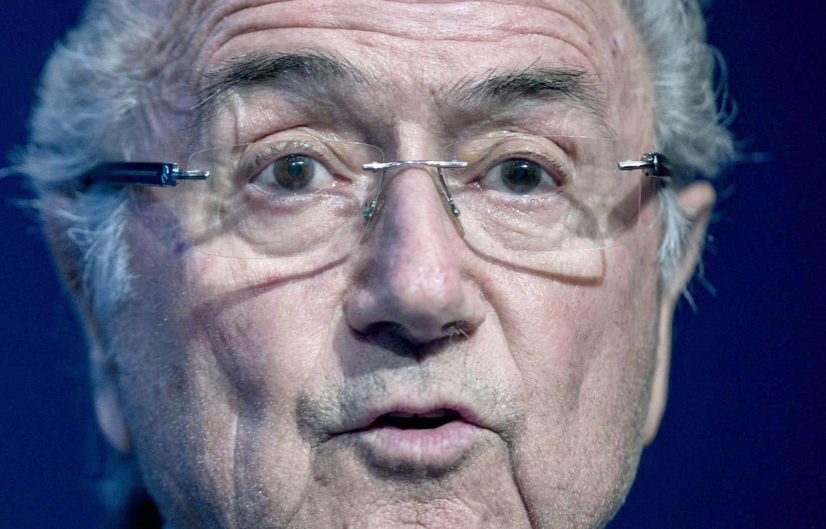 Le président démissionnaire de la FIFA, Sepp Blatter