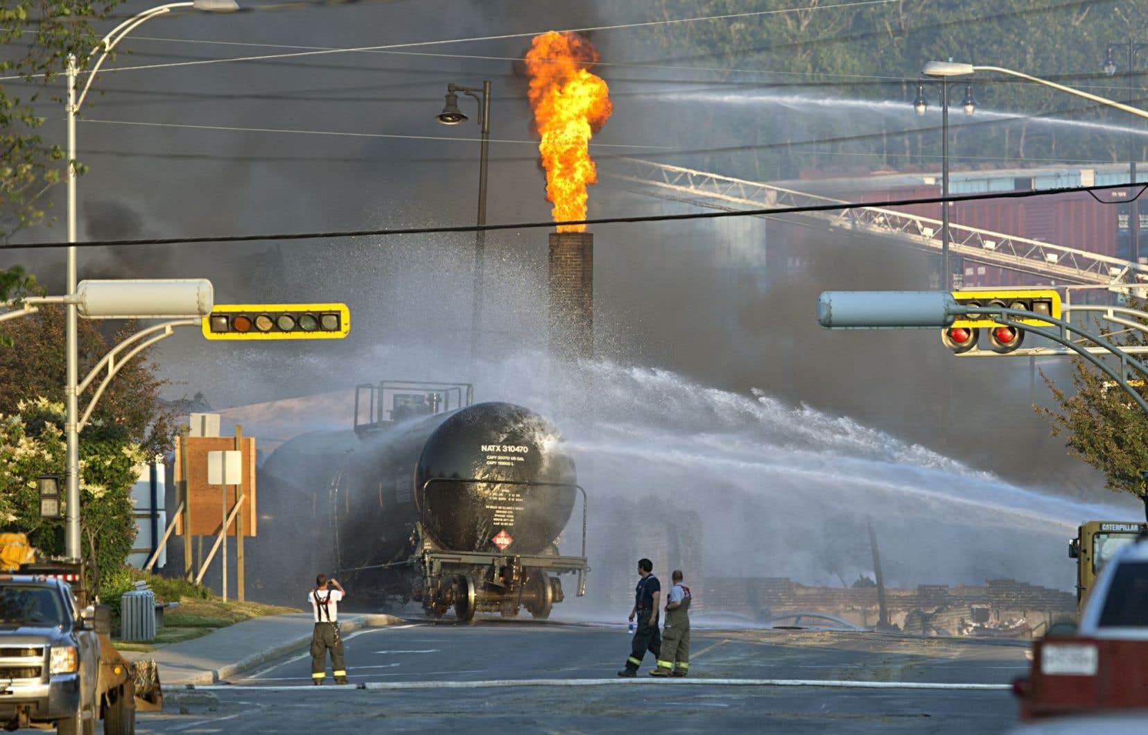 L'accident ferroviaire survenu à Lac-Mégantic le 6juillet 2013 a fait 47 victimes.