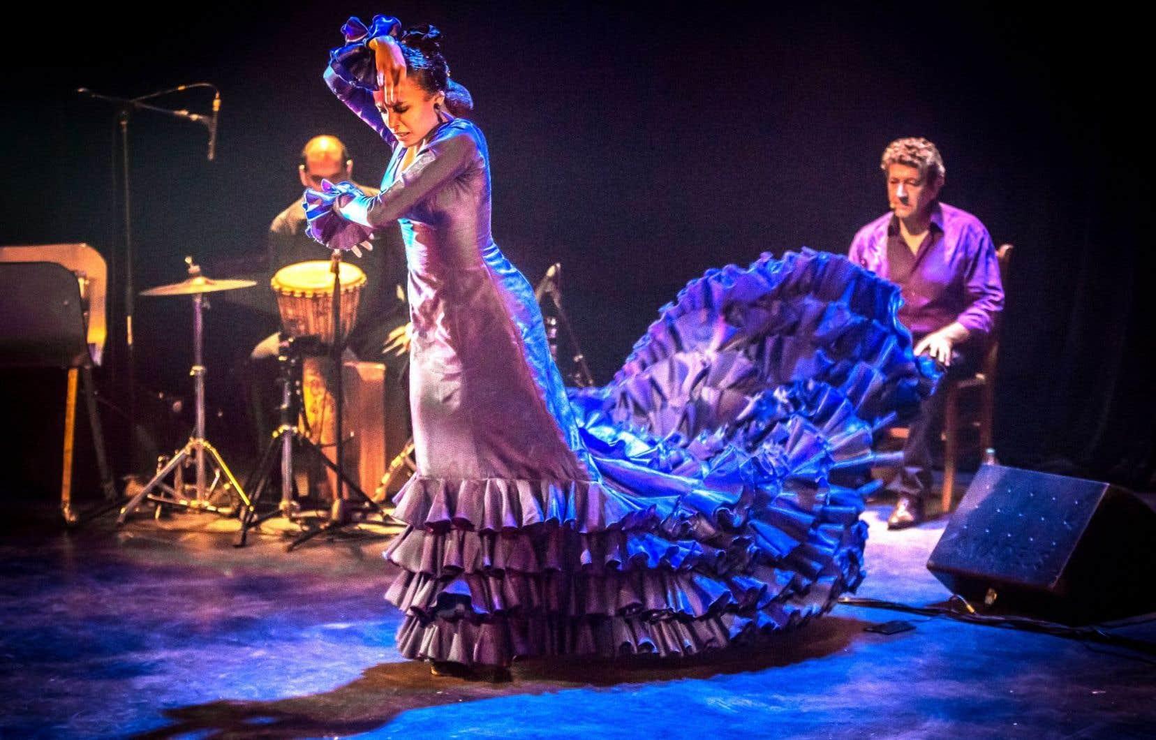 La danseuse AnaPérez pendant le spectacle «Lo Esencial», qui offre un voyage dans le passé autant que dans la géographie de l'Andalousie.