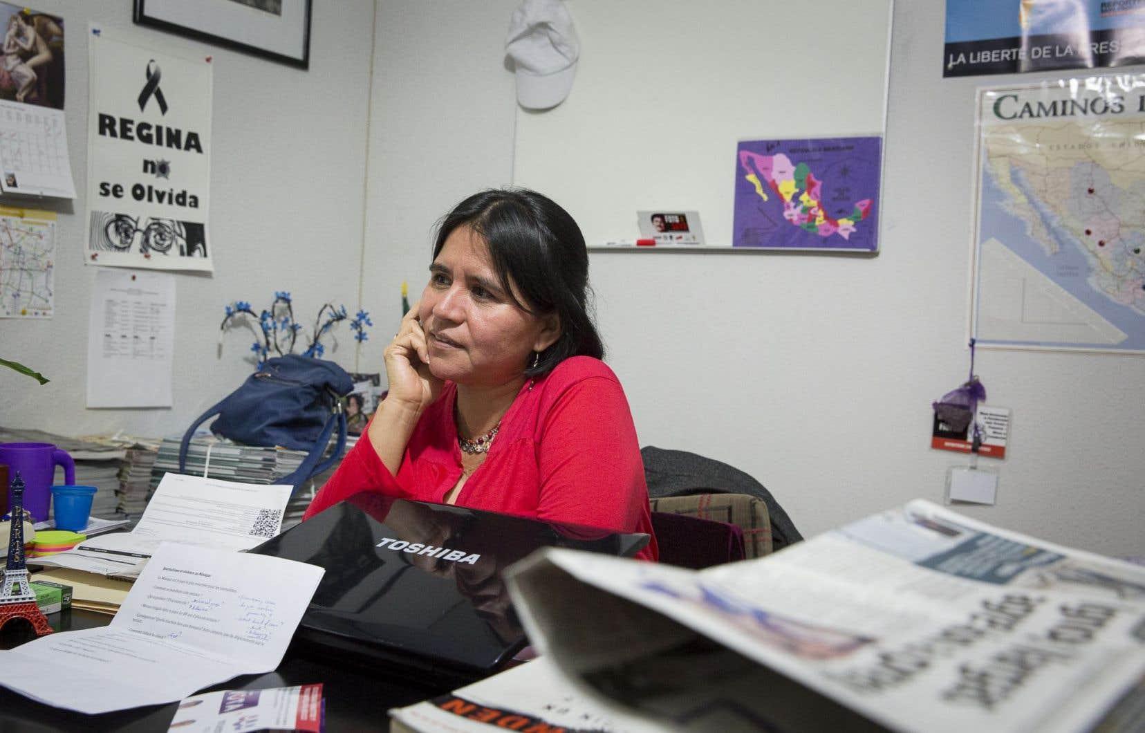 Balbina Flores Martínez, représentante de Reporters sans frontières au Mexique