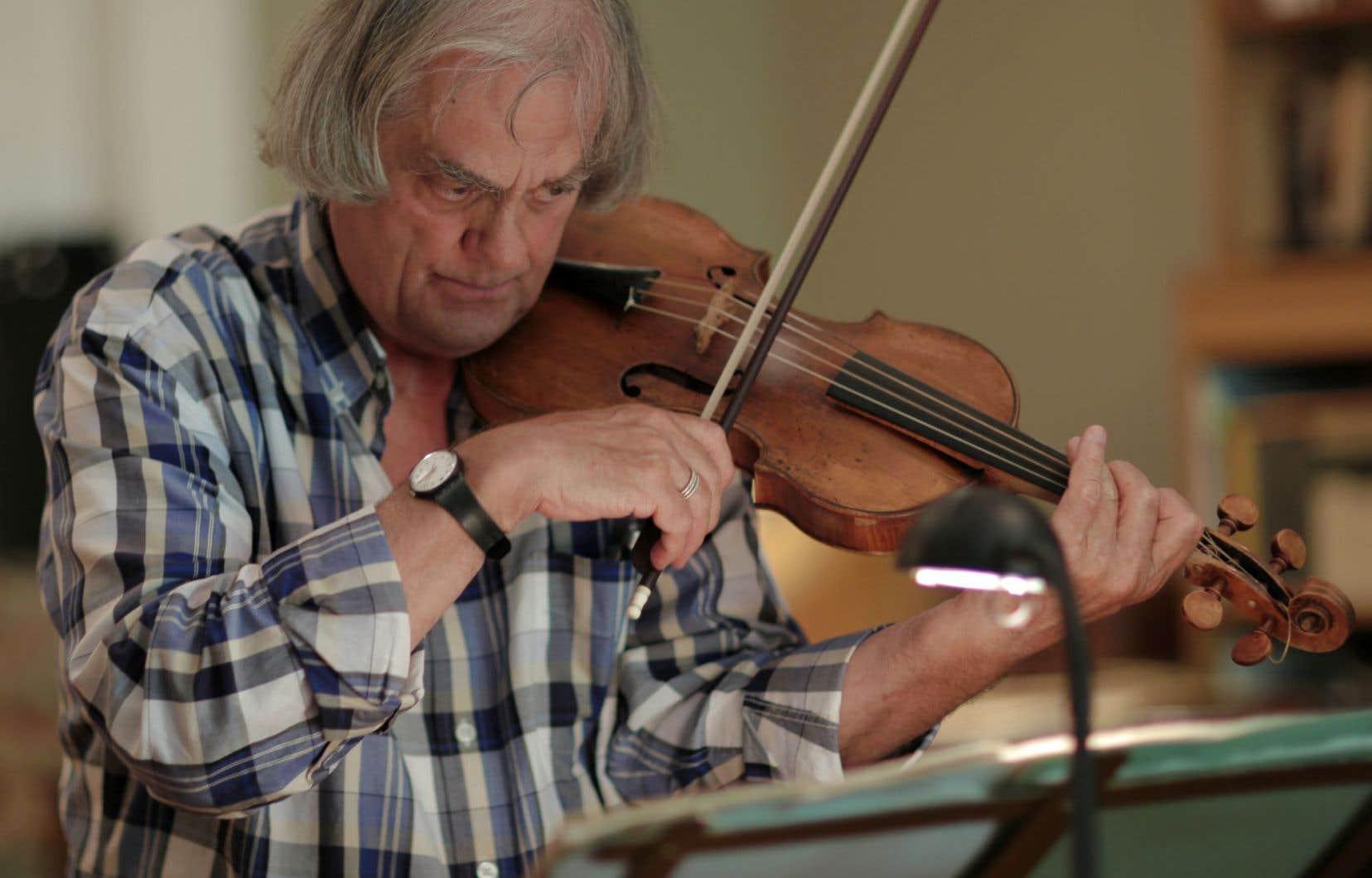 Le musicien Sigiswald Kuijken, la semaine dernière, en répétition à Montréal en prévision de son passage à Montréal baroque.