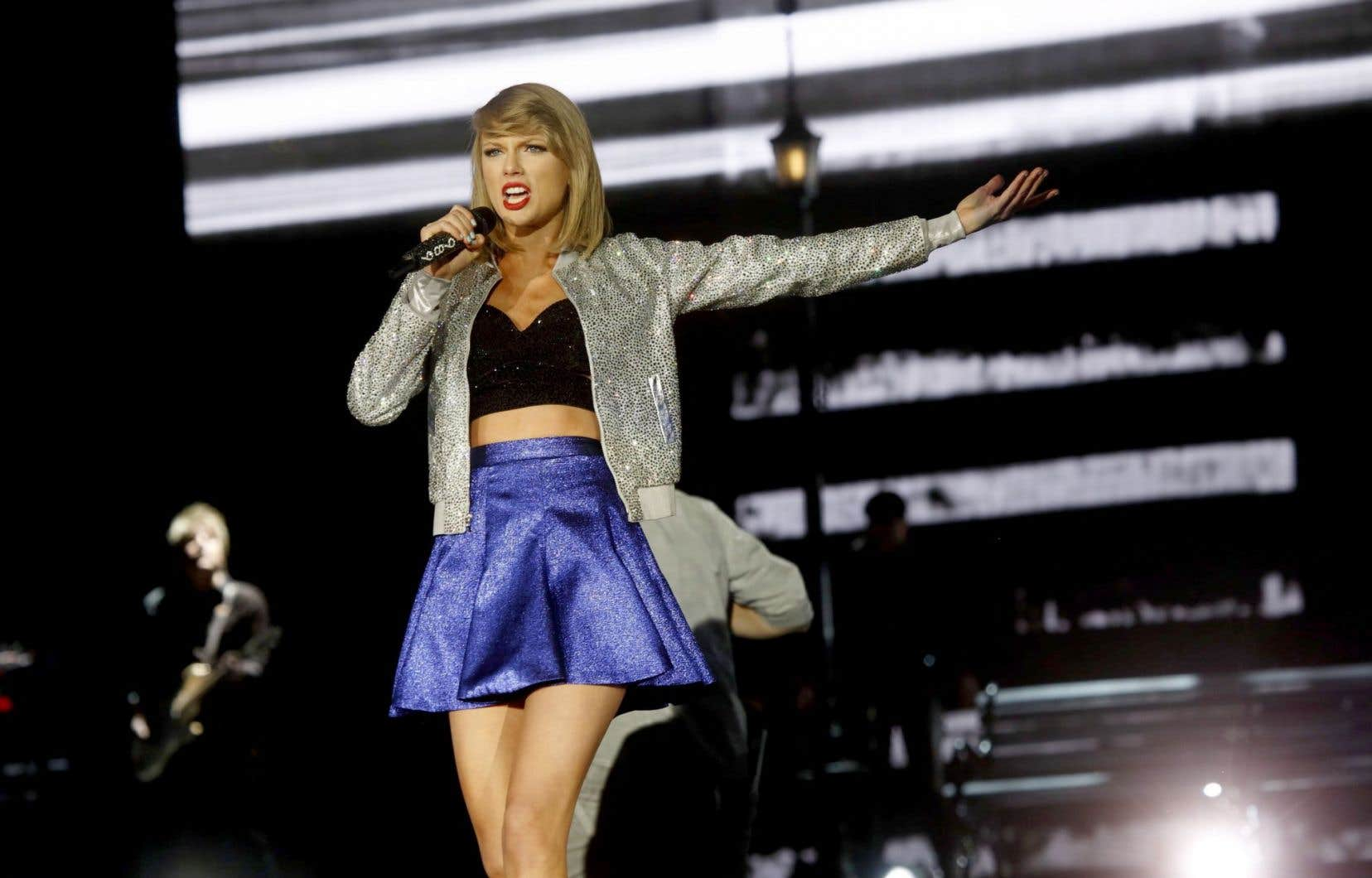 La chanteuse Taylor Swift lors d'un récent concert à Las Vegas en mai.