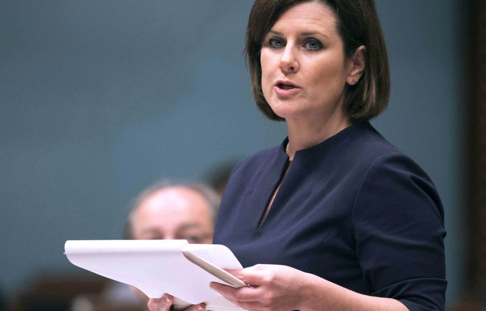 La ministre de la Justice et procureure générale du Québec, Stéphanie Vallée