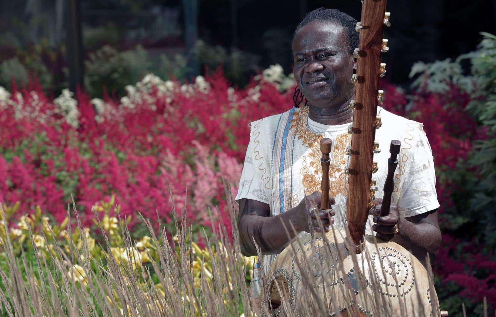 Zal Sissokho, l'un des membres du groupe Famalé