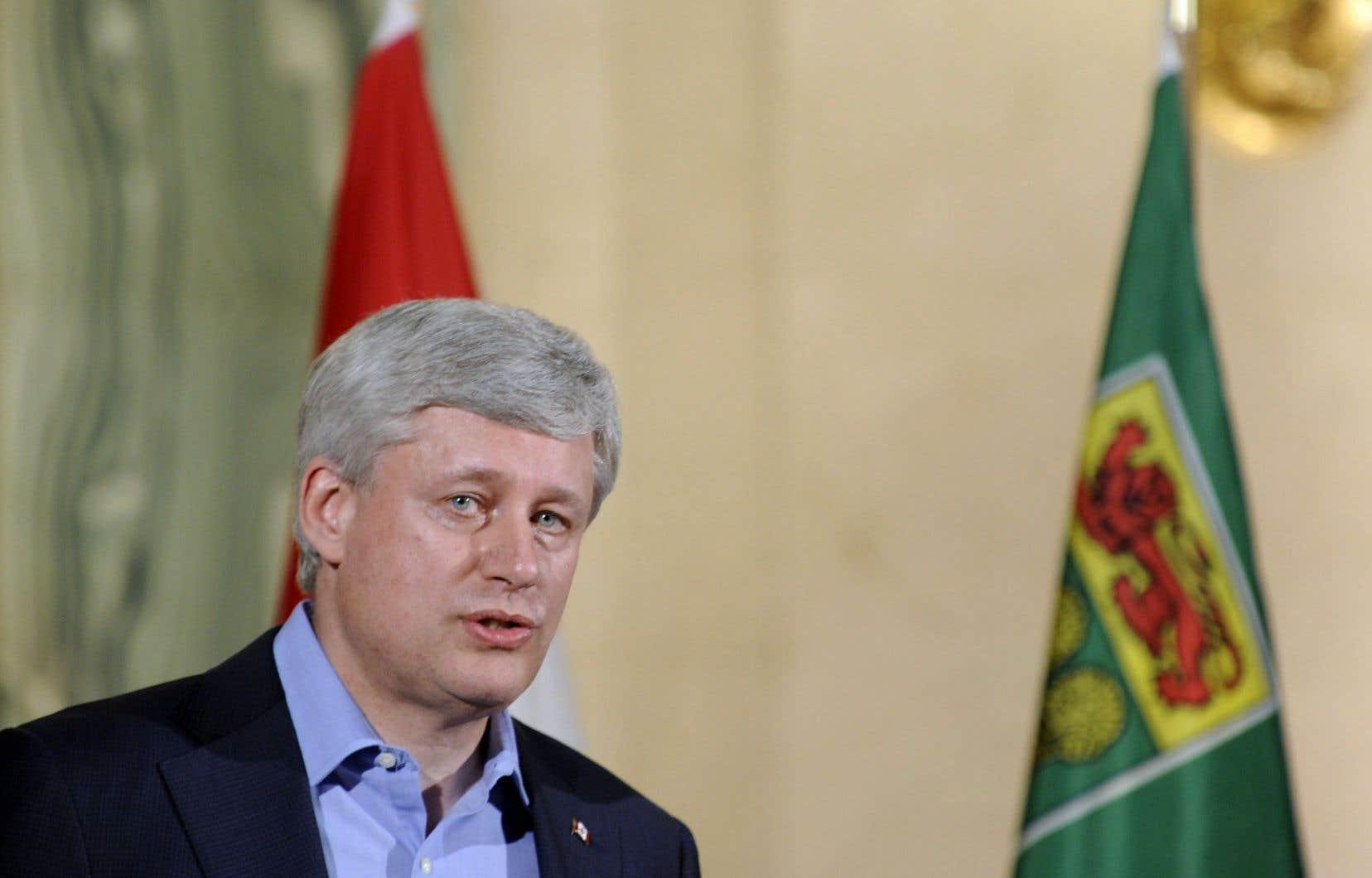 Le premier ministre du Canada Stephen Harper