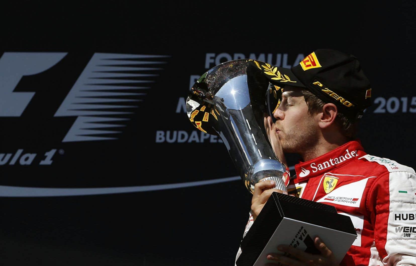 Sebastian Vettel, quadruple champion de la F1, a célébré une 41e victoire en carrière dimanche.