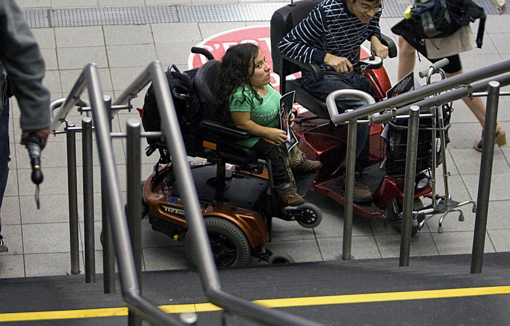 Laurence Parent (notre photo) regrette l'absence d'une loi pour l'accessibilité et les droits des personnes handicapées au Québec.