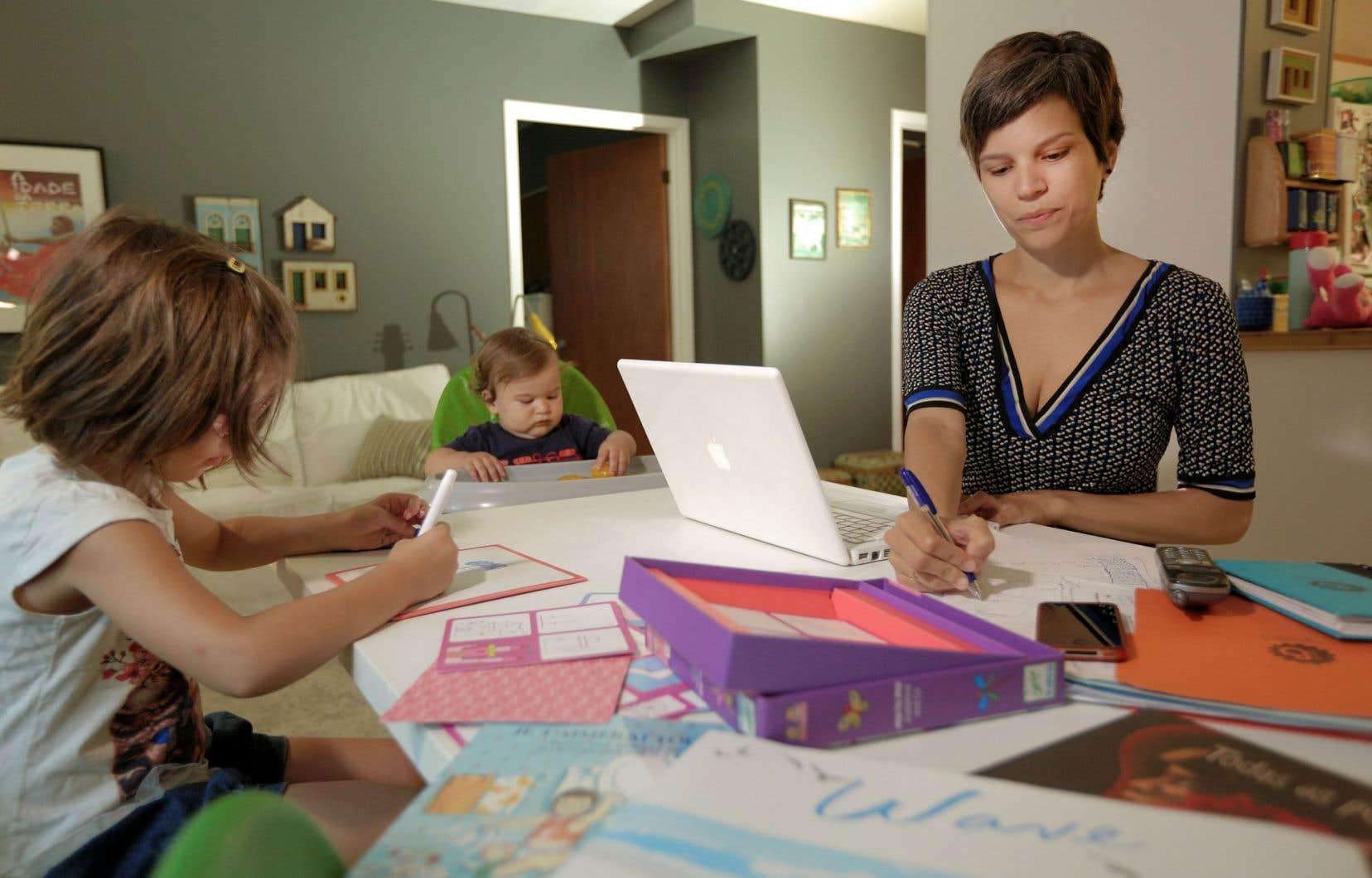 Gabriela de Andrade est l'instigatrice du projet montréalais appelé «Boom» et la mère de deux bambins âgés de quatre ans et un an.