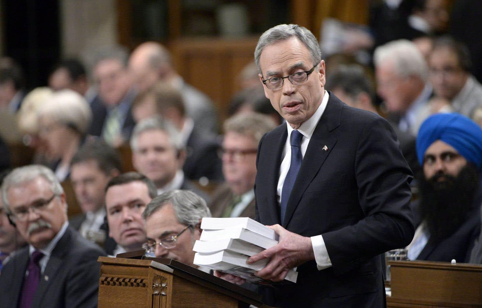 Le ministre des Finances Joe Oliver lors du dépôt du dernier budget du gouvernement Harper