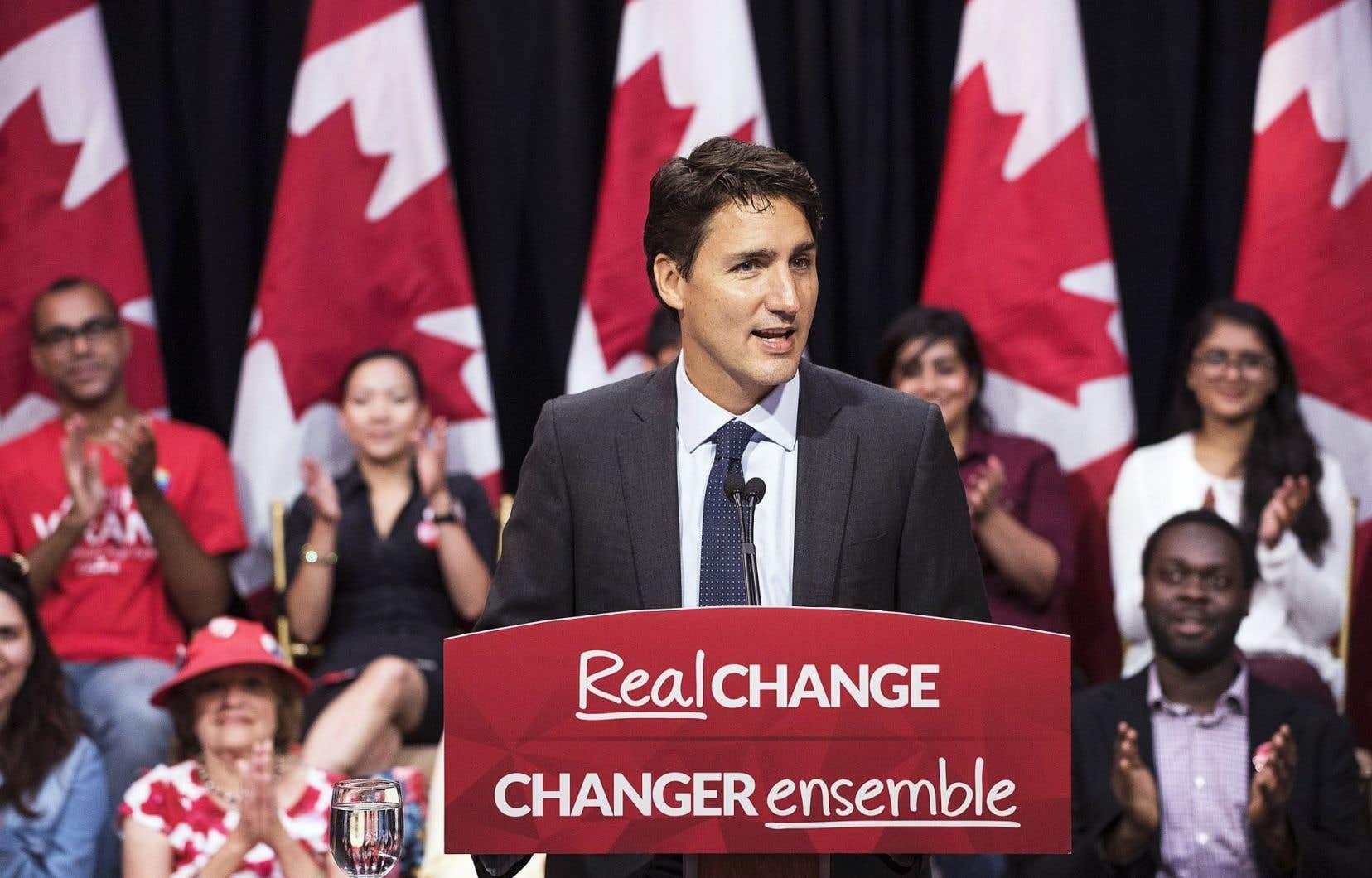 Justin Trudeau s'est adressé à des militants à Toronto, vendredi.