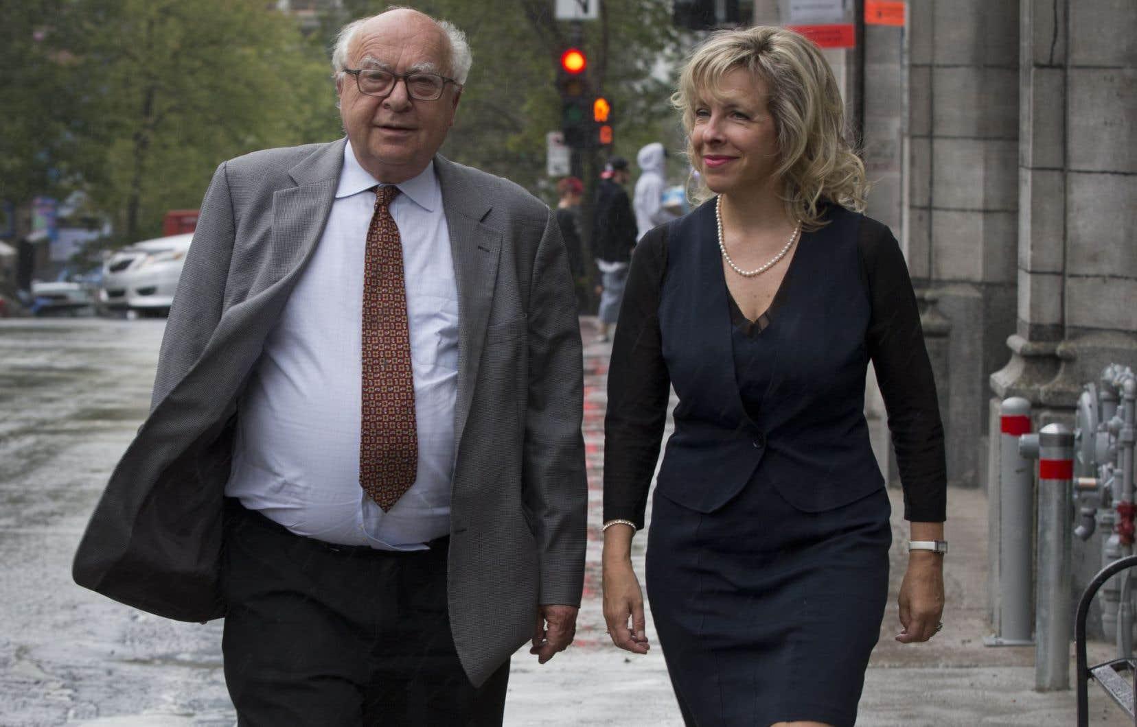 L'avocat Julius Grey et l'ancienne bâtonnière du Barreau de Montréal, Julie Latour