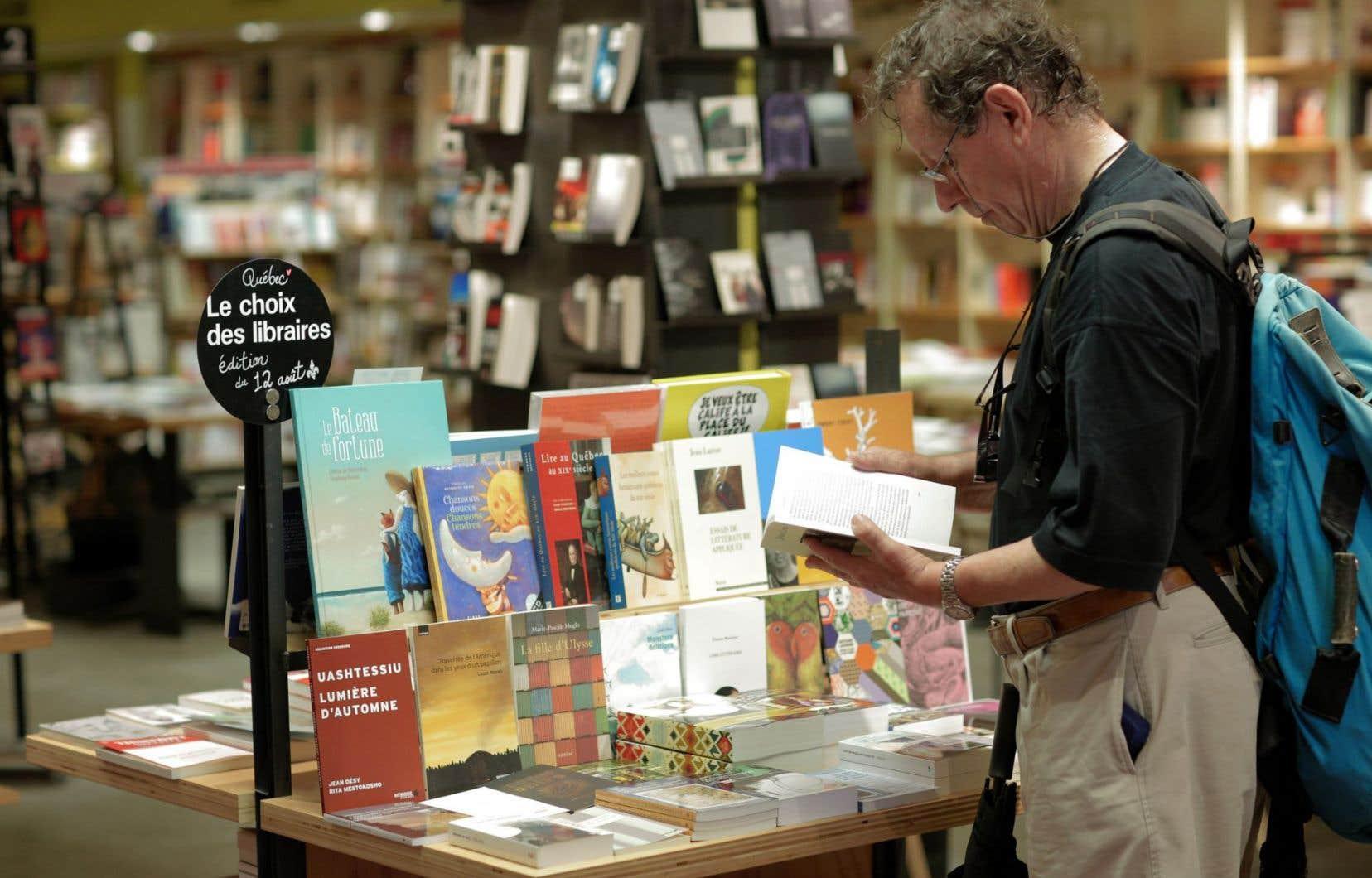 La librairie Olivieri, à Montréal.Tant dans les grandes chaînes que dans les librairies indépendantes, la suggestion de titres a été la manière d'annoncer le 12 août.