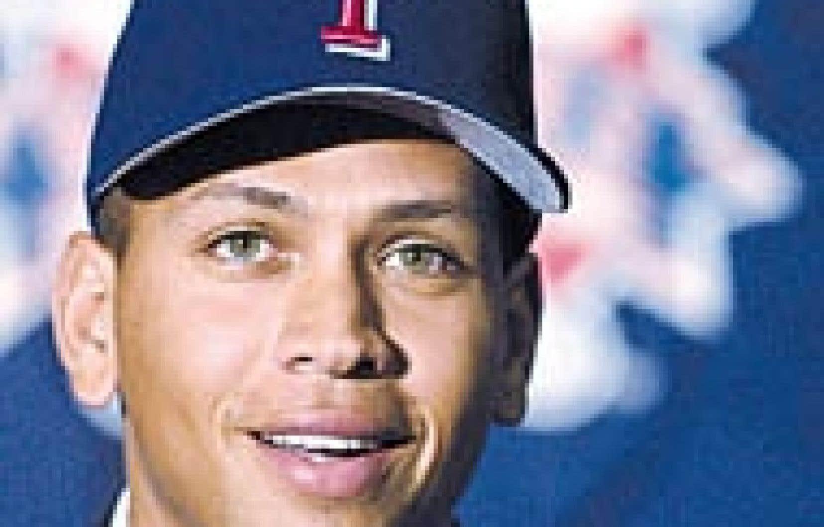 Alex Rodriguez, lors de son passage aux Rangers du Texas.
