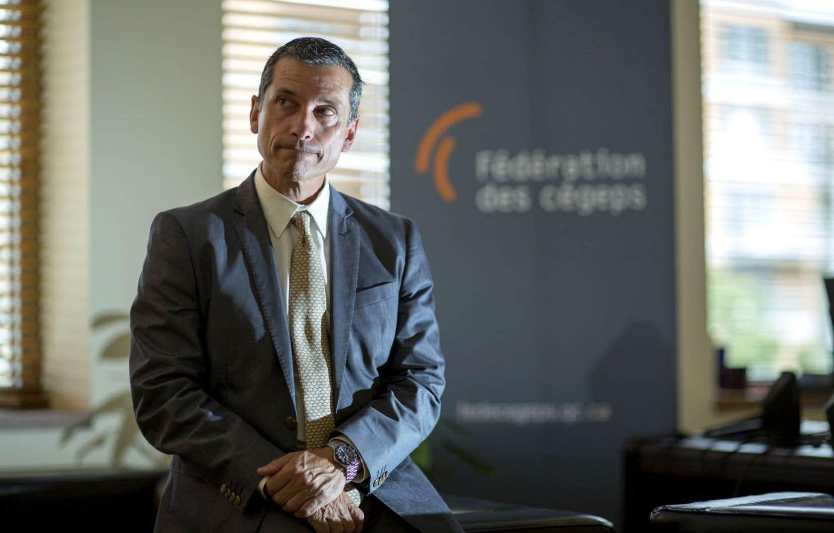Le président de la Fédération des cégeps, Bernard Tremblay