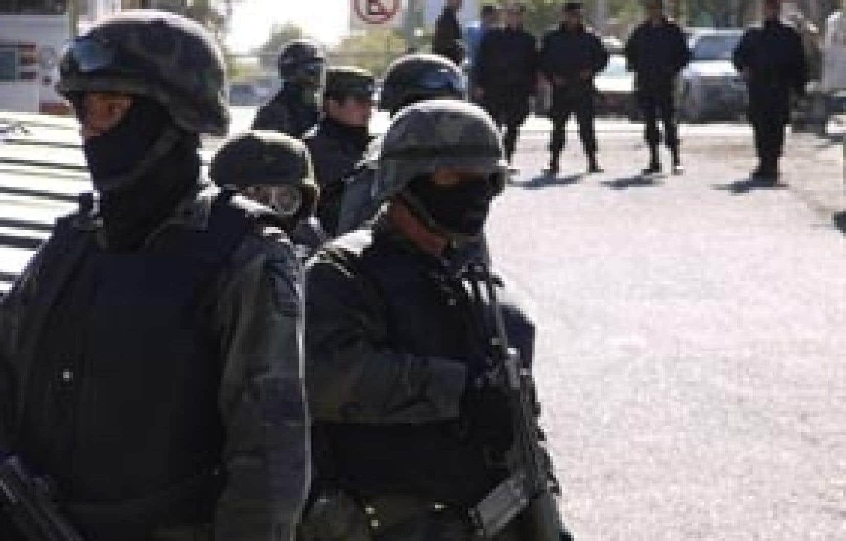 L'armée mexicaine dans les rues de Ciudad Juarez