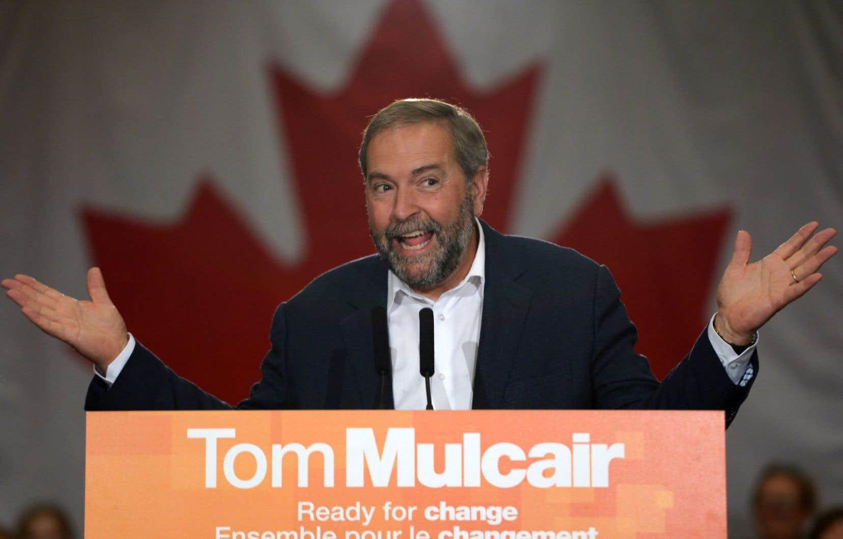 Au cours des dernières semaines, Thomas Mulcair a imposé un changement de cap à son parti sur l'échiquier politique.