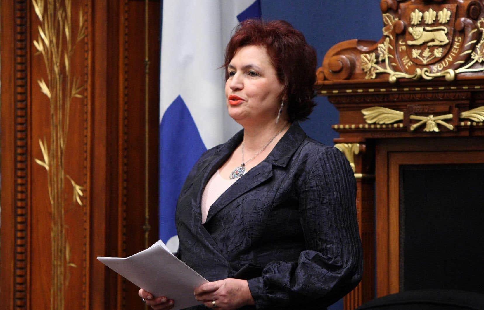 L'ex-députée libérale Fatima Houda-Pepin