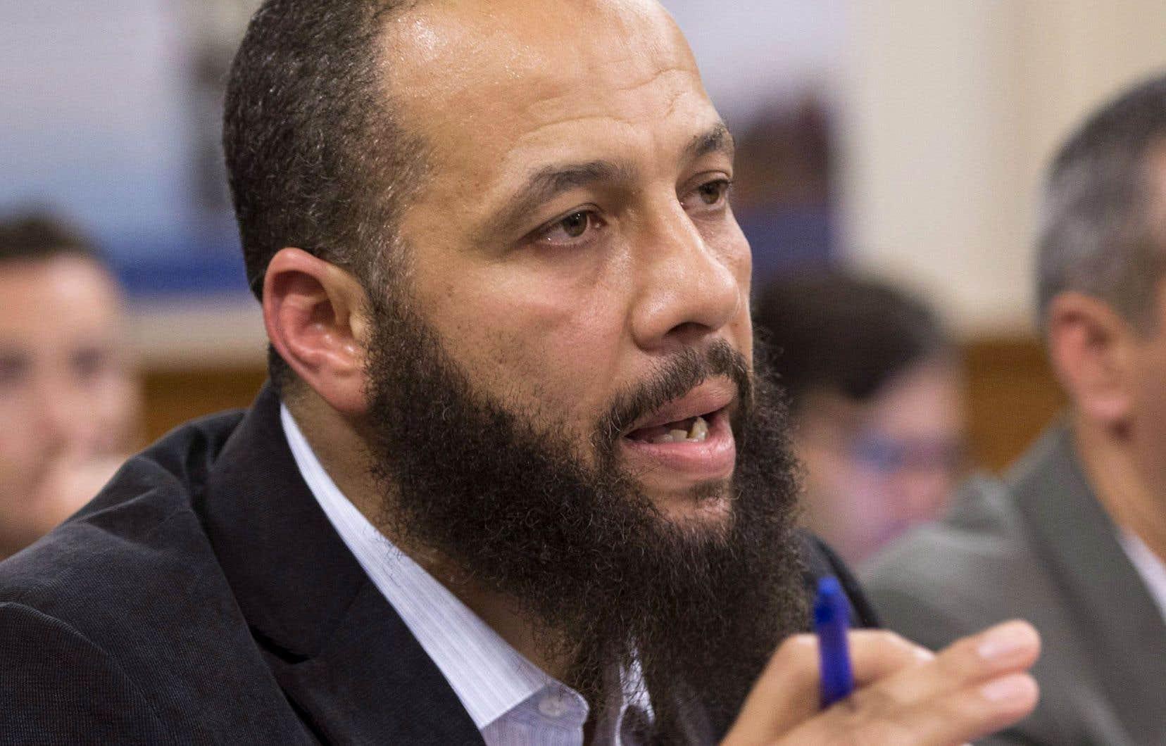 Adil Charkaoui s'est dit muselé par les élus de l'Assemblée nationale lors de son témoignage à la commission des Institutions concernant le projet de loi 59 sur la prévention et la lutte contre les discours haineux et les discours incitant à la violence, mardi.