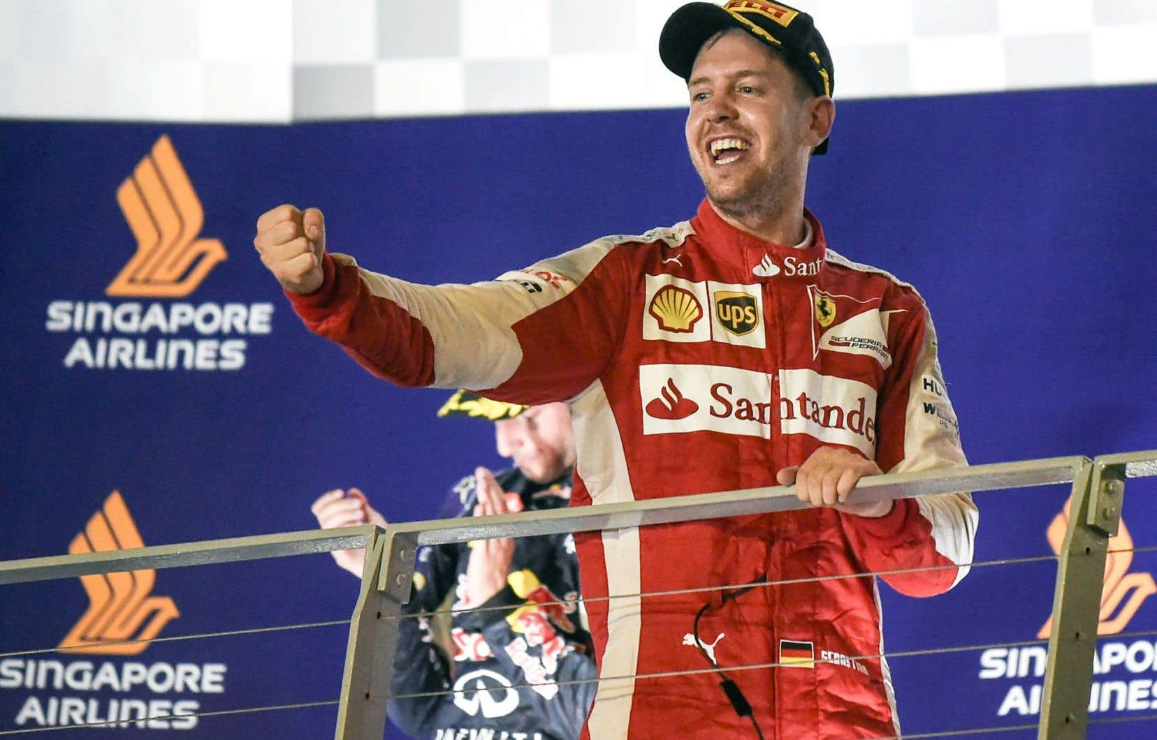 Sebastian Vettel n'était pas peu fier d'avoir remporté le Grand Prix de Singapour.