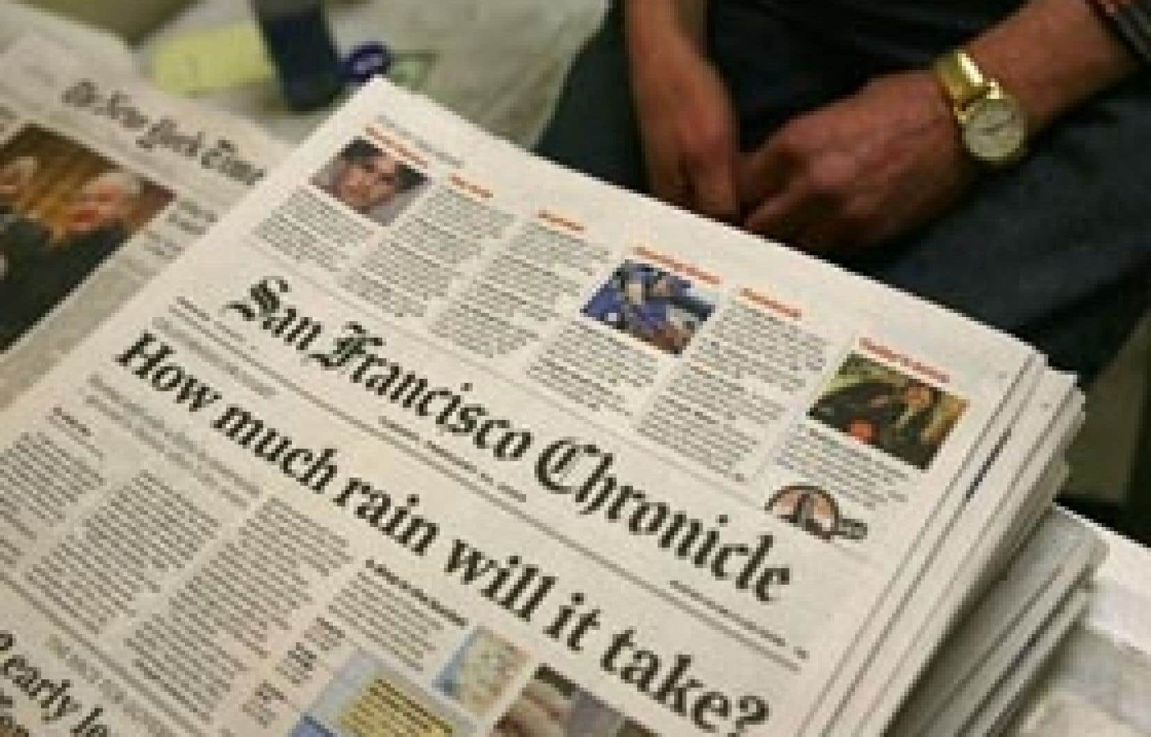 Le San Francisco Chronicle est un autre titre américain prestigieux menacé: le 24février dernier, son propriétaire, Hearst Corporation, annonçait qu'après des pertes de 50millions en 2008, il envisageait de vendre ou de fermer le journal vieu