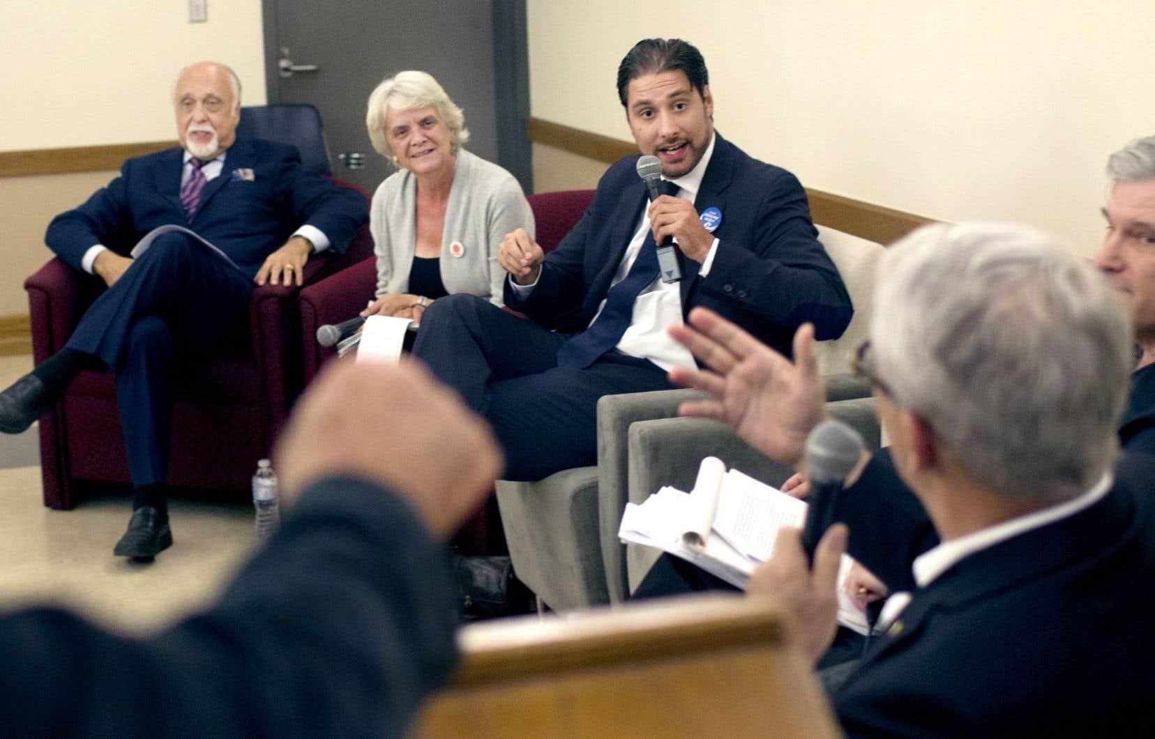 Des représentants des partis fédéraux ont participé à un débat organisé à l'UQAM.