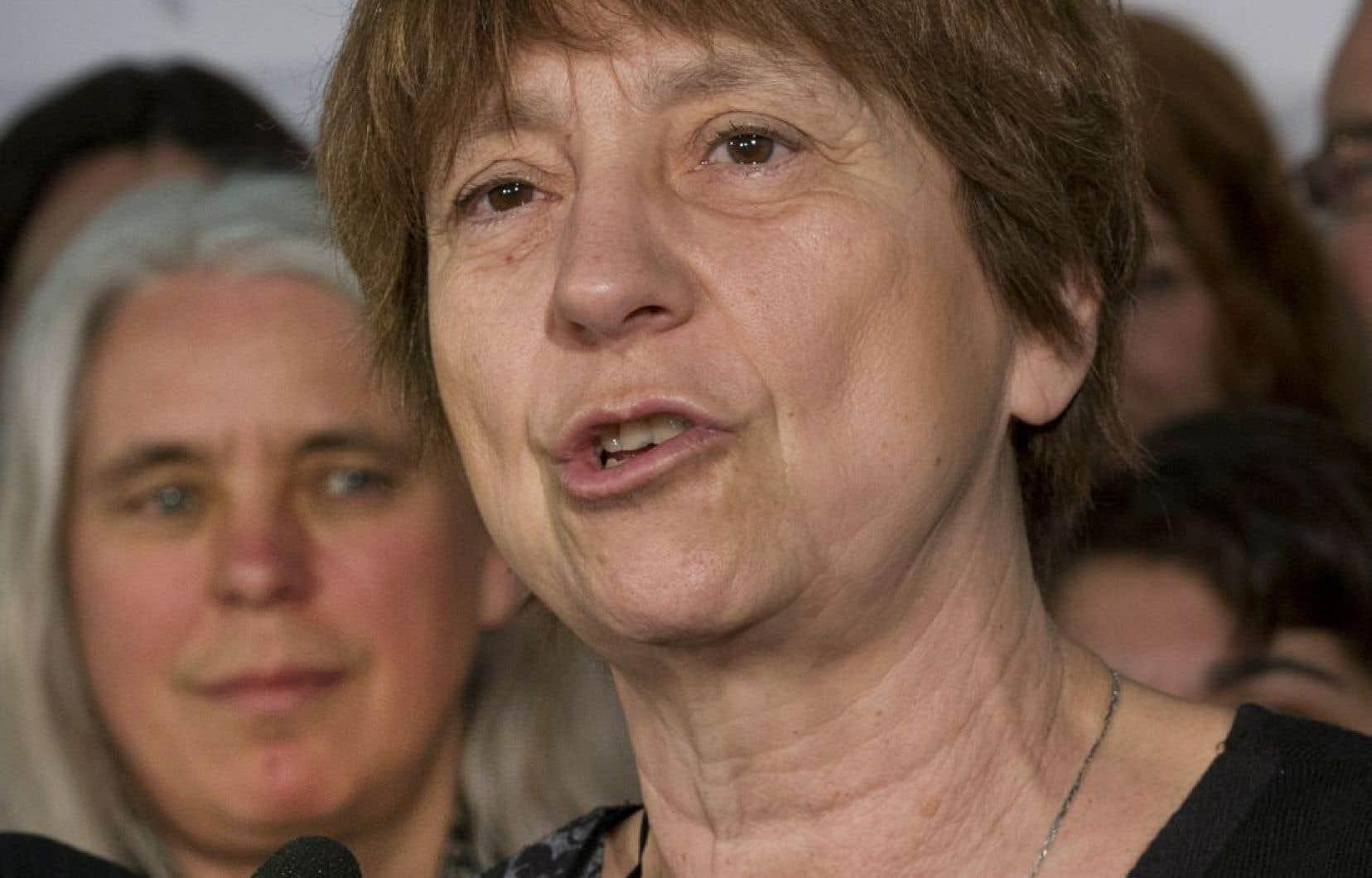 « Il faut appeler un chat, un chat », a insisté Françoise David, qui s'est indignée de l'agression subie par une femme voilée, mardi à Montréal.