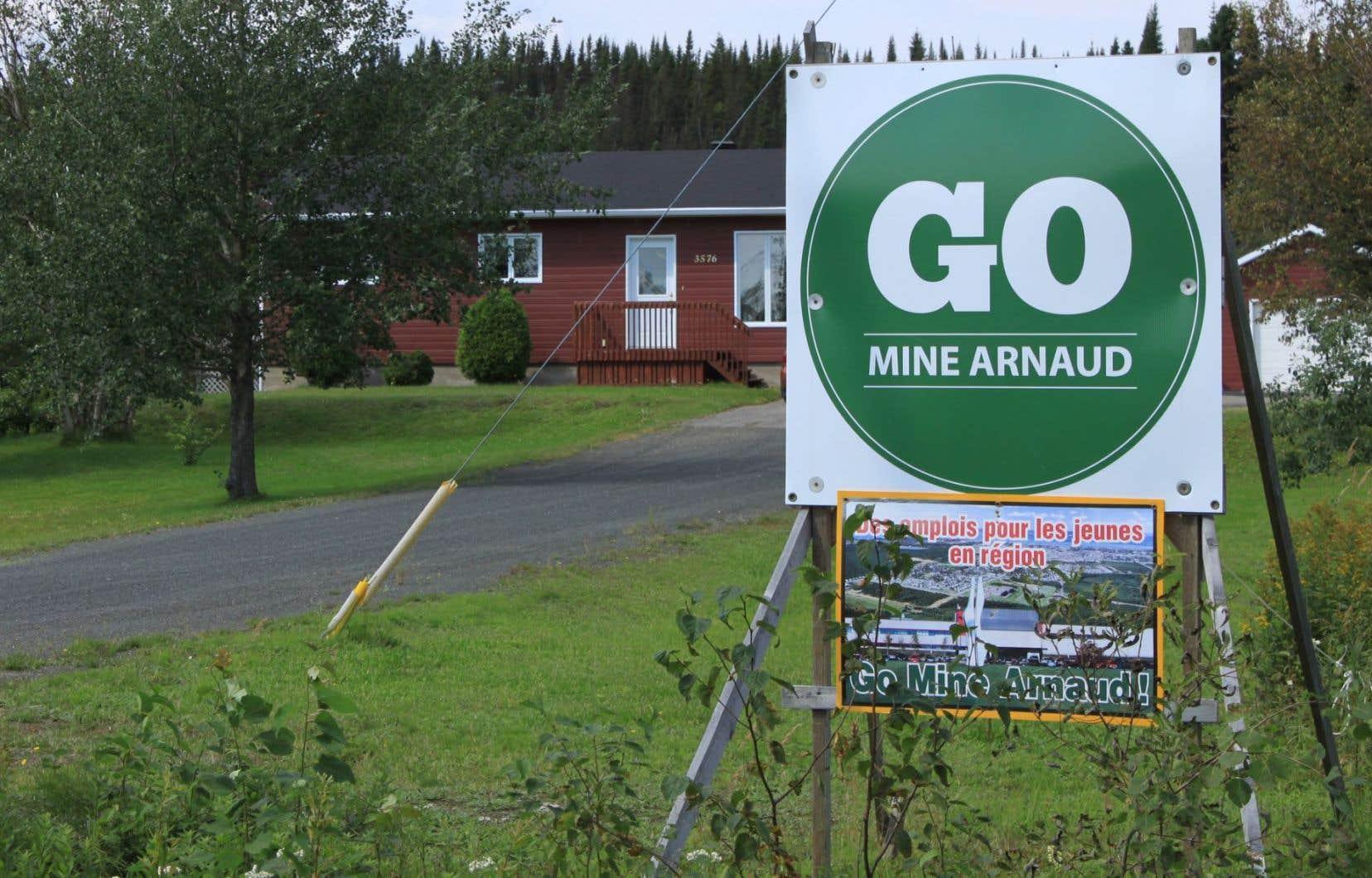 Le projet Mine Arnaud est appuyé par une partie de la population de Sept-Îles.