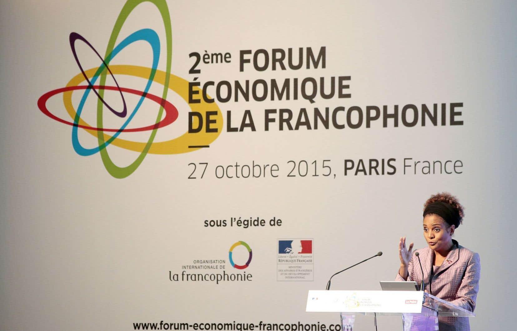 Michaëlle Jean, la secrétaire générale de l'Organisation internationale de la Francophonie, a livré un discours aux participants.