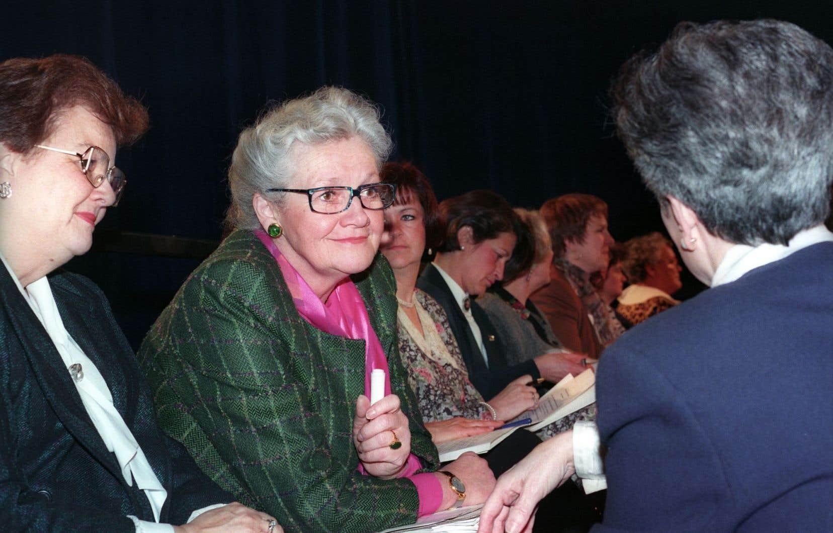 Monique Vézina, présidente du Mouvement national des Québécois
