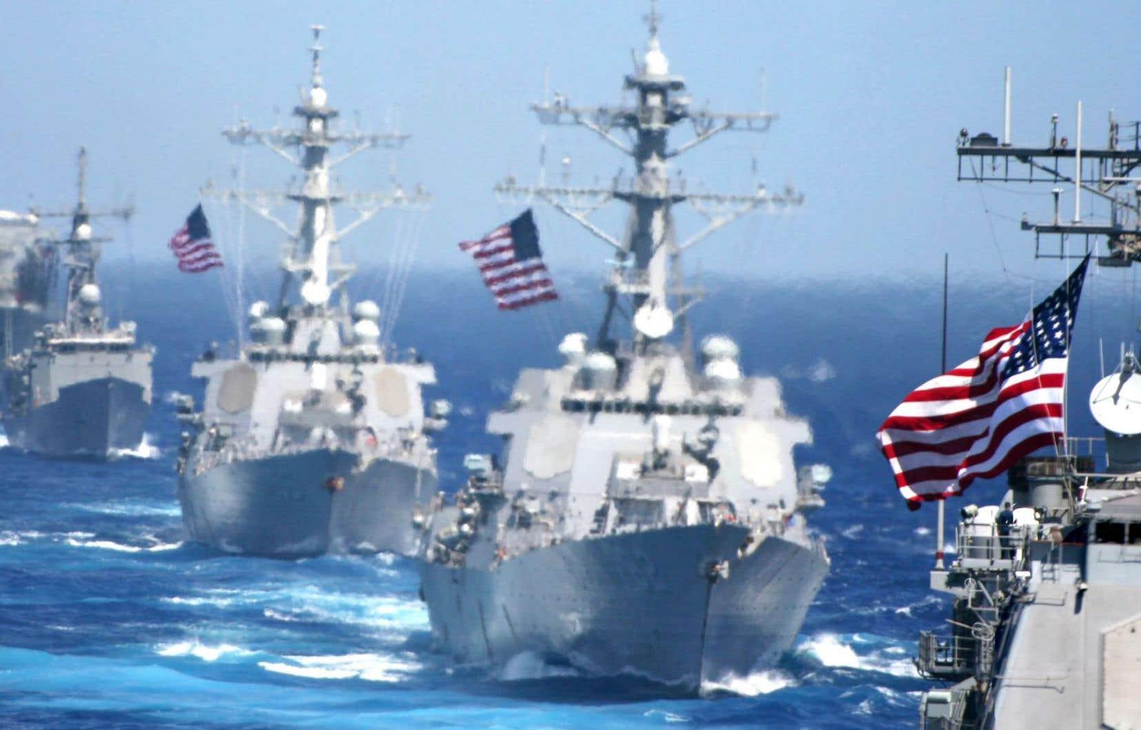 Des bateaux de la flotte militaire américaine