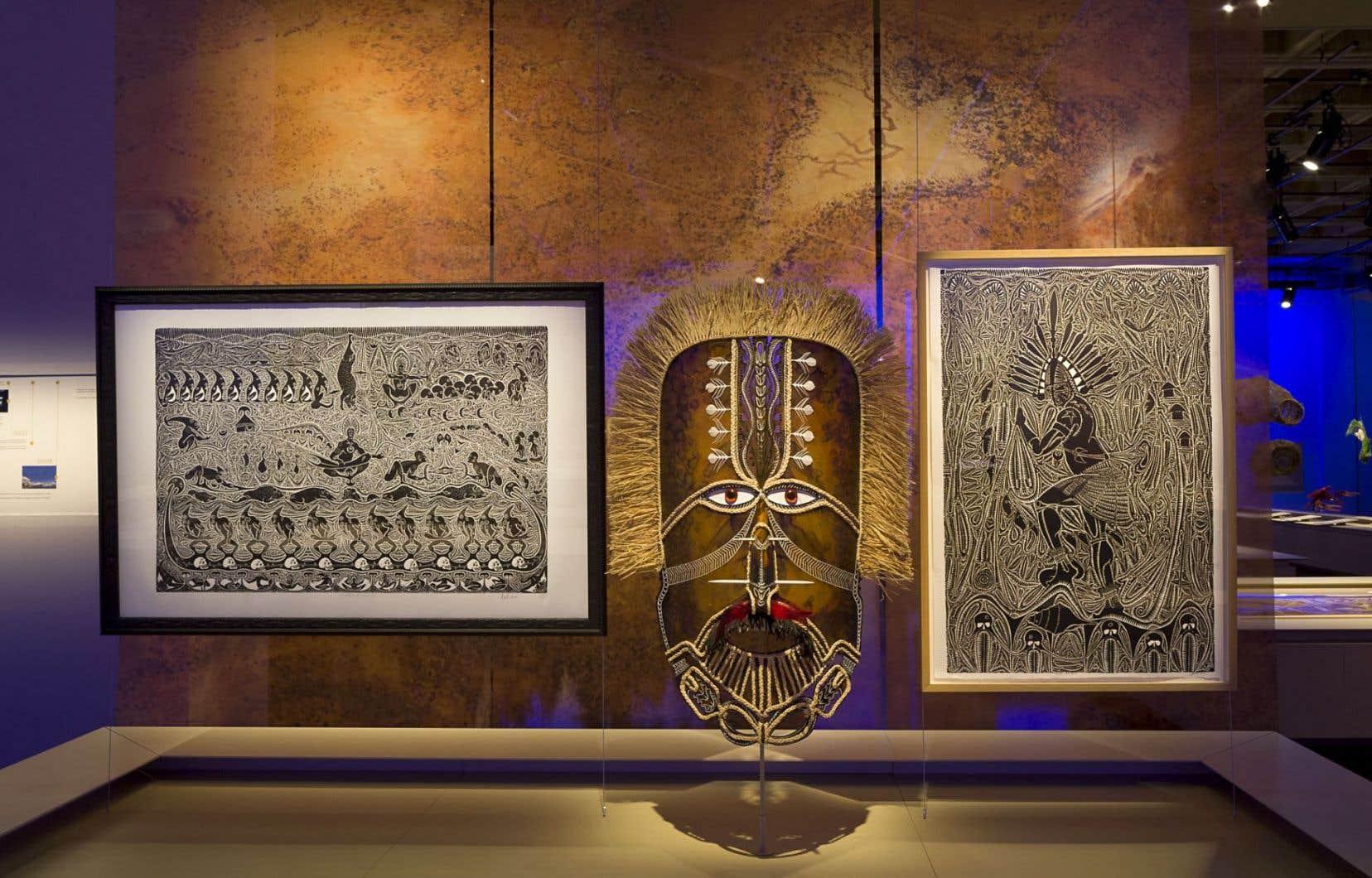 L'exposition reflète le rapport intrinsèque que les autochtones, artistes ou pas, entretiennent avec leur environnement.