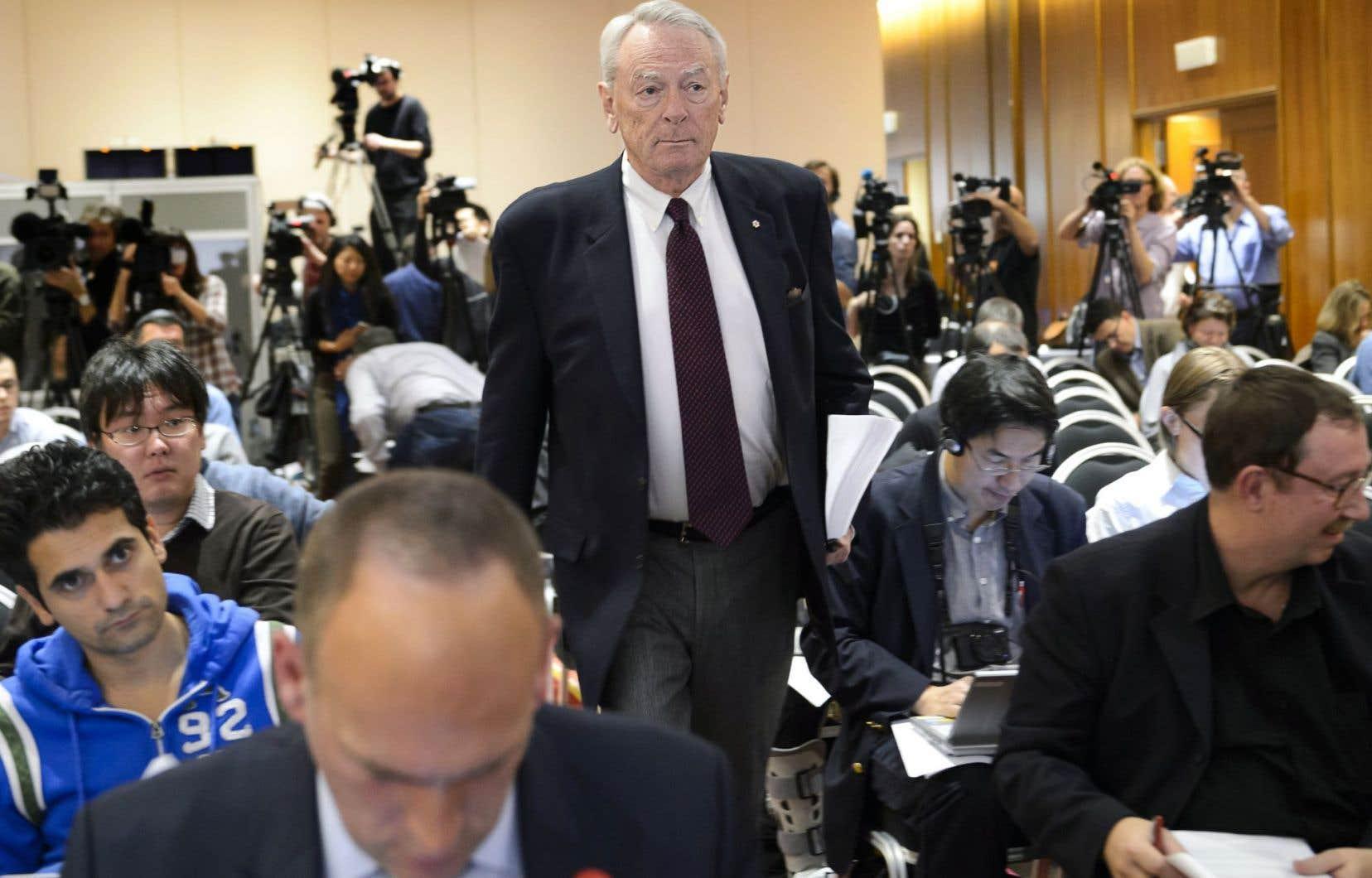 Dick Pound, président de la Commission indépendante de l'Agence mondiale antidopage
