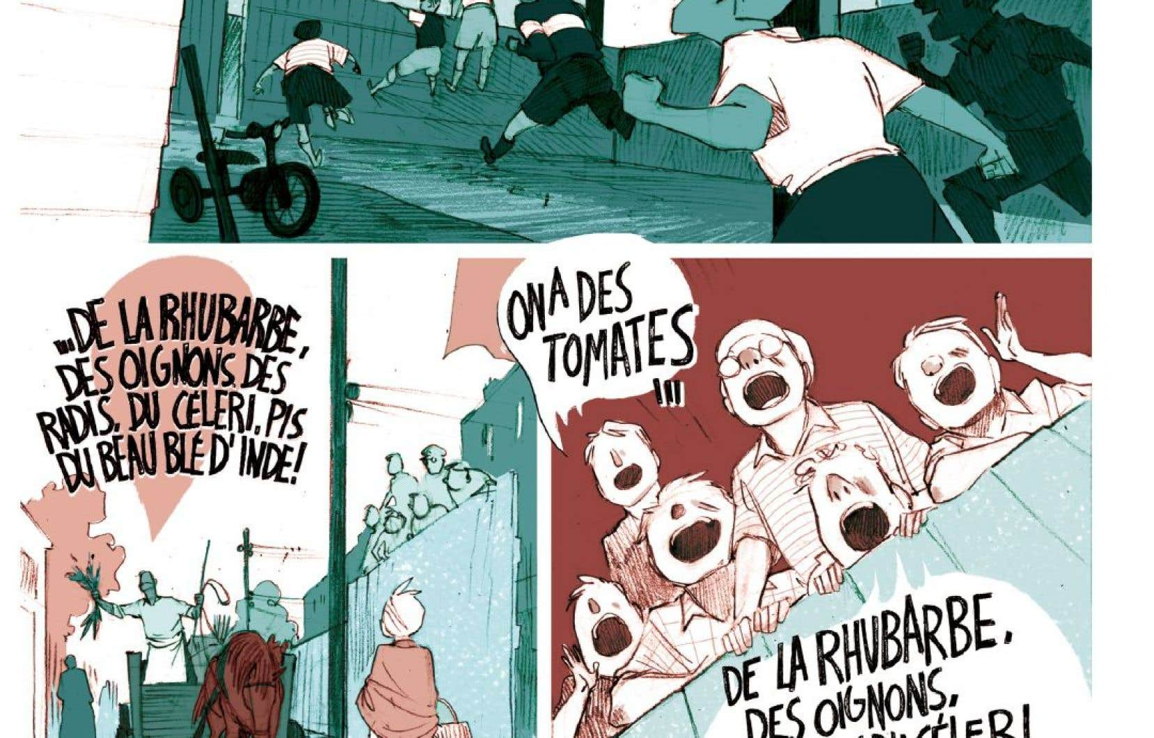 La petite patrie a été adaptée en bande dessinée par Julie Rocheleau et Normand Grégoire.