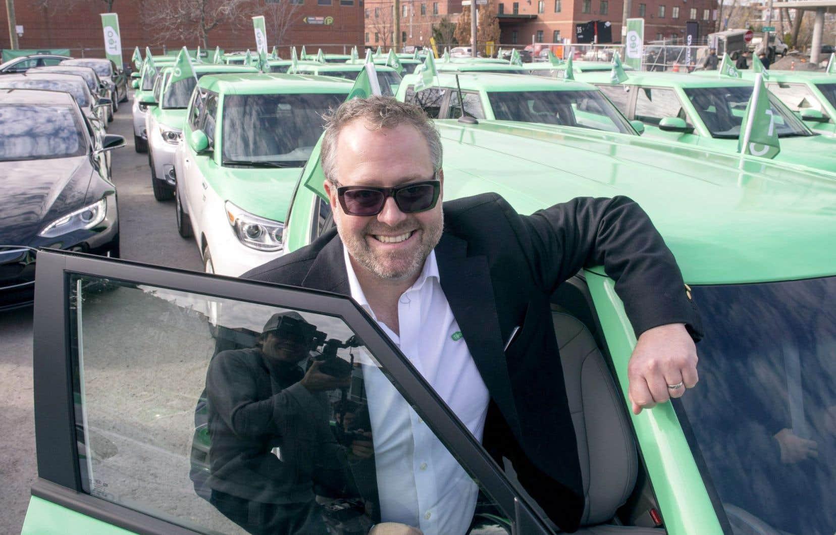 Alexandre Taillefer veut avoir 1000 véhicules dans les rues de Montréal d'ici 2017, et 2000 avant la fin de 2019.