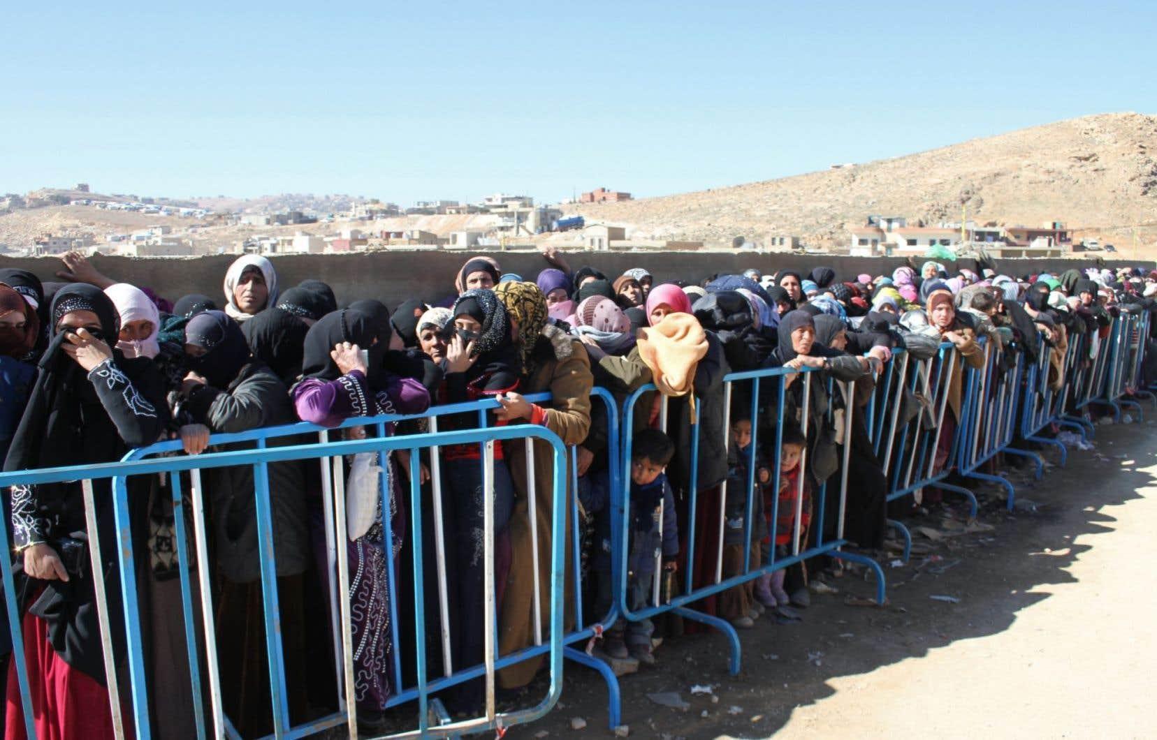 Des réfugiés syriens à Ersal, au Liban, en février 2014